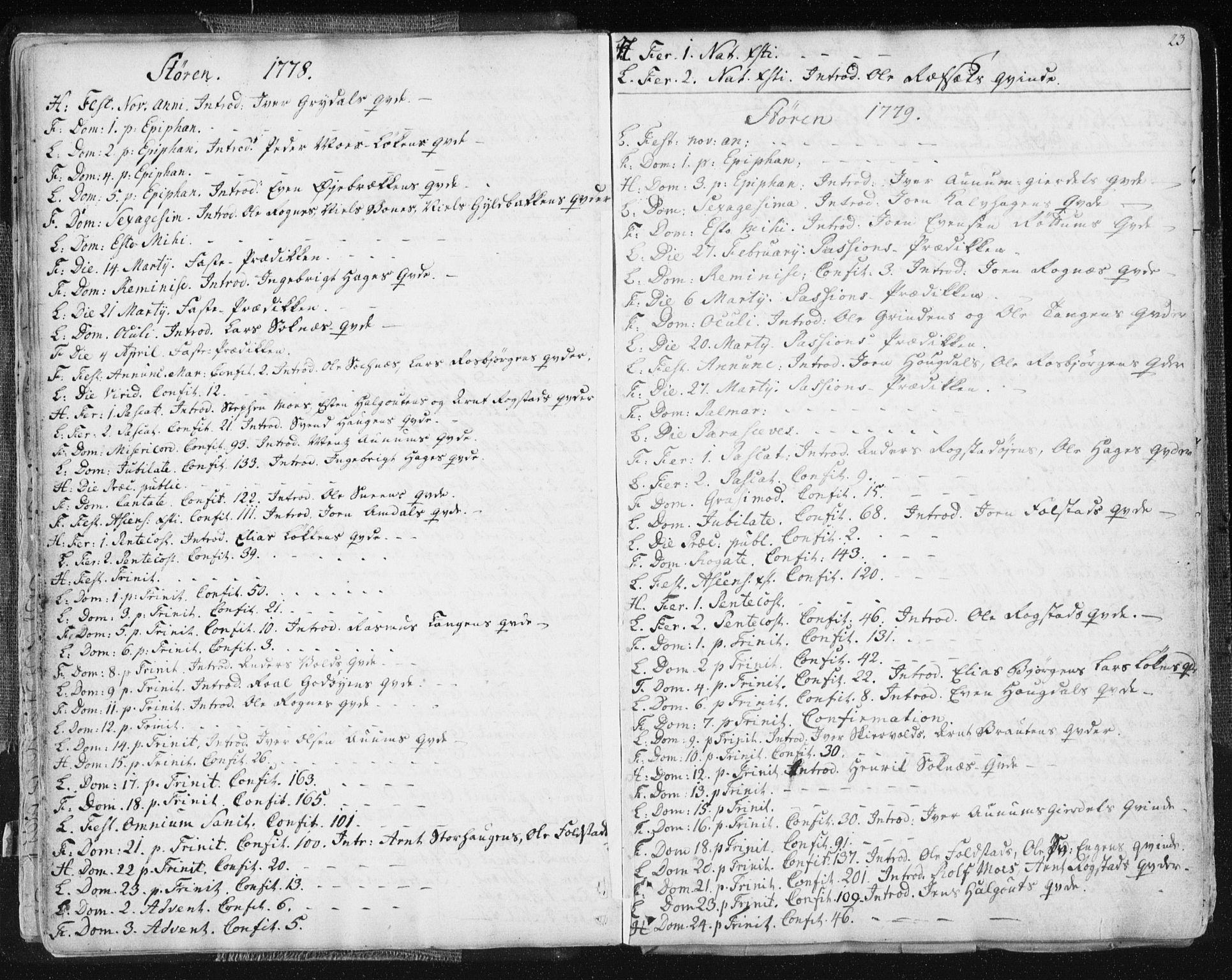 SAT, Ministerialprotokoller, klokkerbøker og fødselsregistre - Sør-Trøndelag, 687/L0991: Ministerialbok nr. 687A02, 1747-1790, s. 23