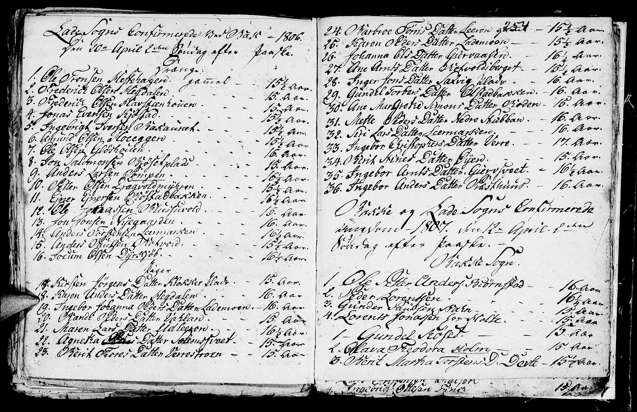SAT, Ministerialprotokoller, klokkerbøker og fødselsregistre - Sør-Trøndelag, 604/L0218: Klokkerbok nr. 604C01, 1754-1819, s. 254