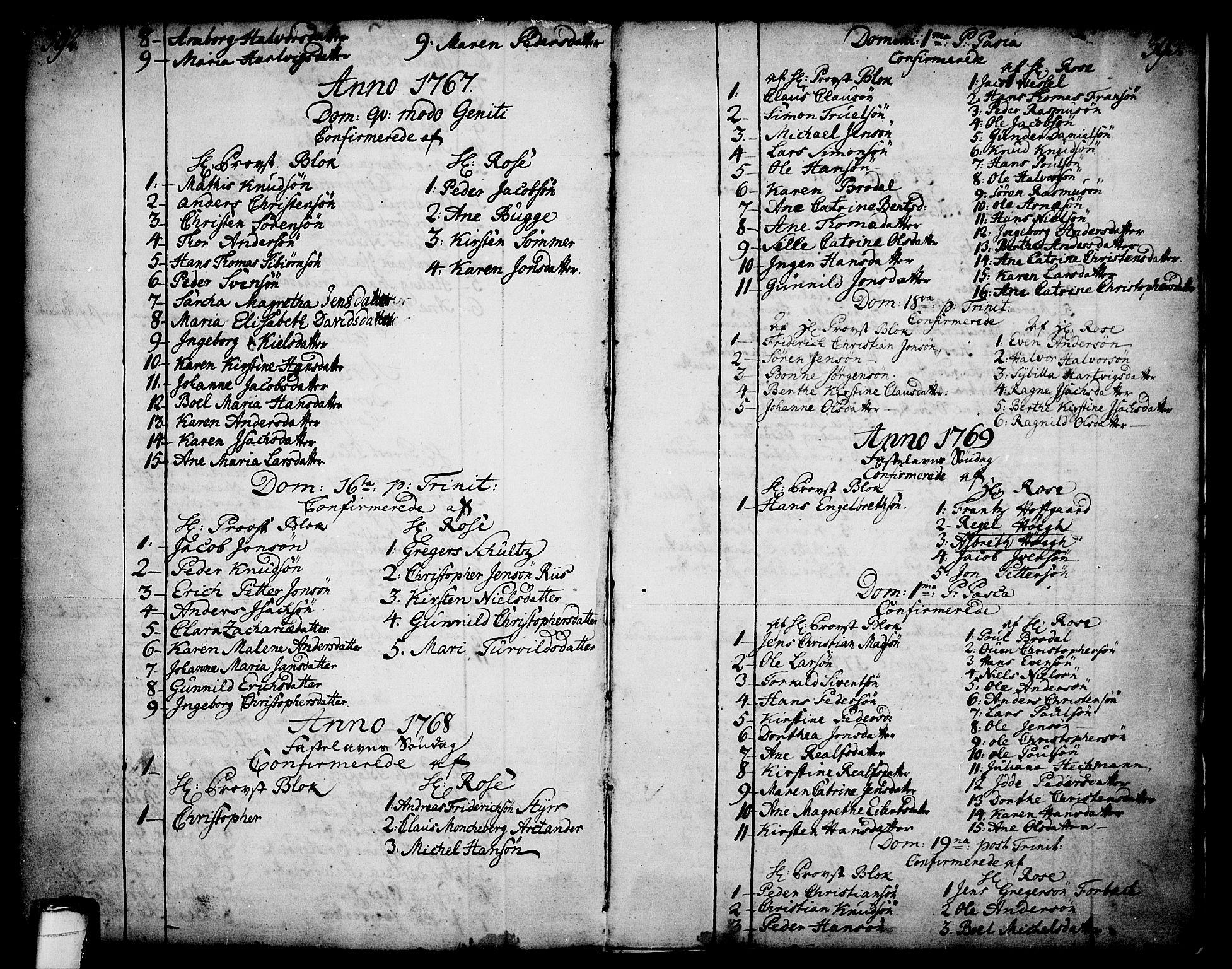 SAKO, Skien kirkebøker, F/Fa/L0003: Ministerialbok nr. 3, 1755-1791, s. 392-393