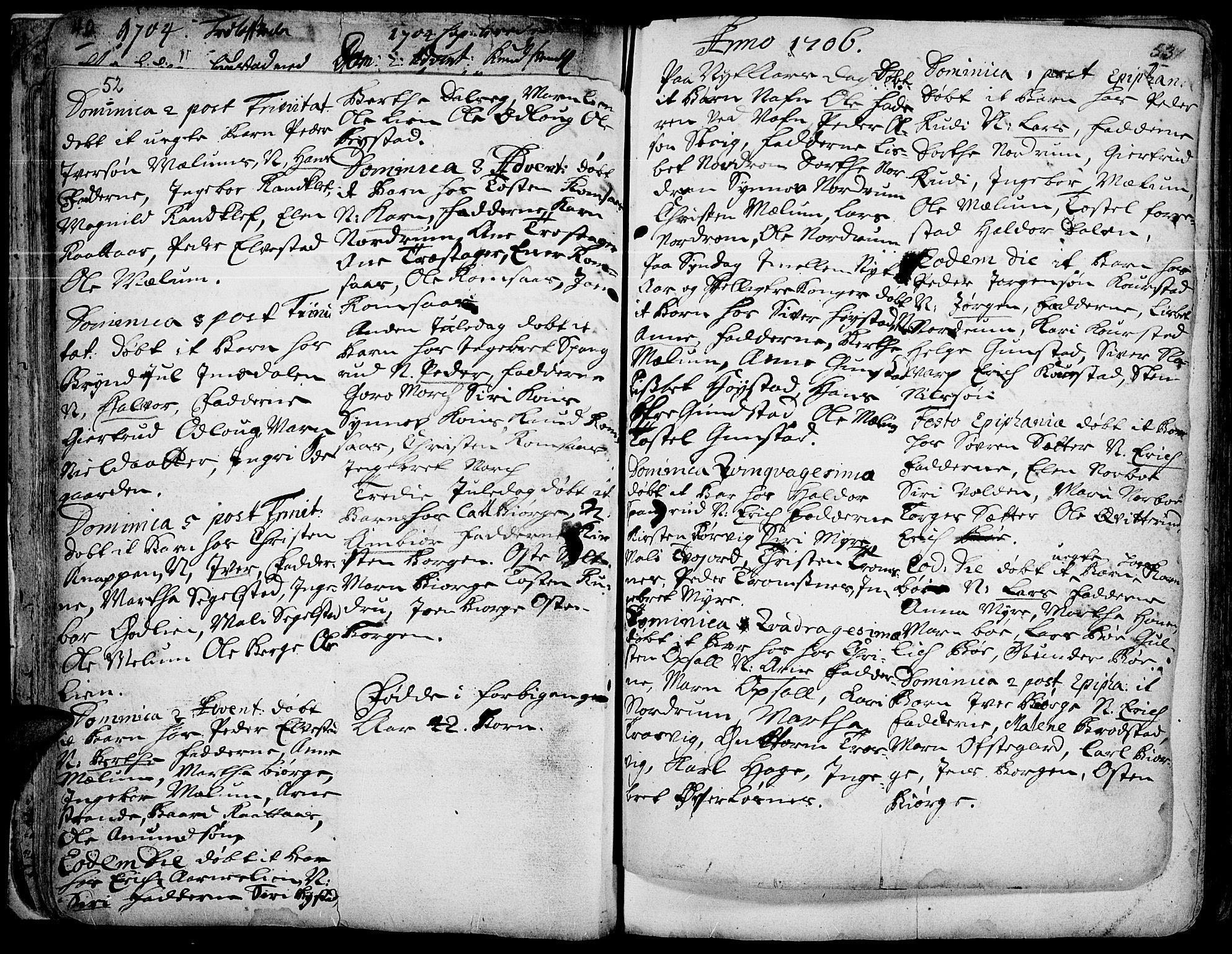 SAH, Ringebu prestekontor, Ministerialbok nr. 1, 1696-1733, s. 52-53