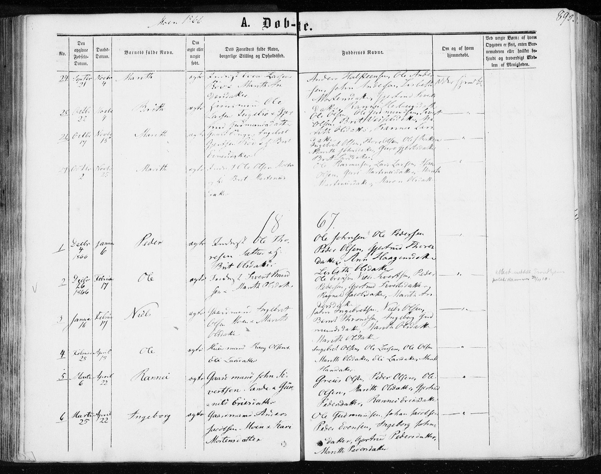 SAT, Ministerialprotokoller, klokkerbøker og fødselsregistre - Møre og Romsdal, 595/L1045: Ministerialbok nr. 595A07, 1863-1873, s. 89