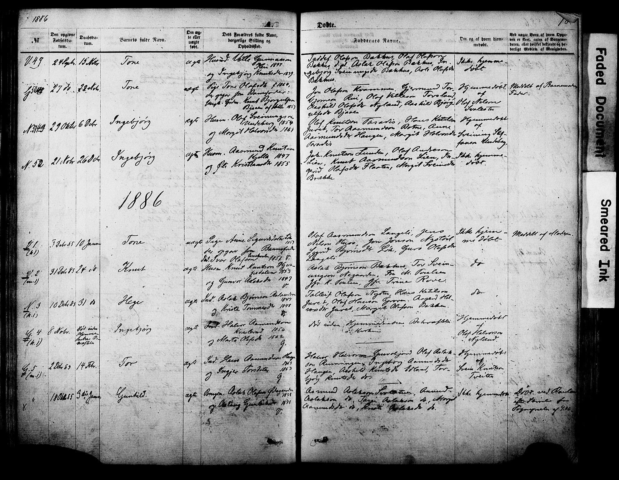 SAKO, Vinje kirkebøker, F/Fa/L0005: Ministerialbok nr. I 5, 1870-1886, s. 78