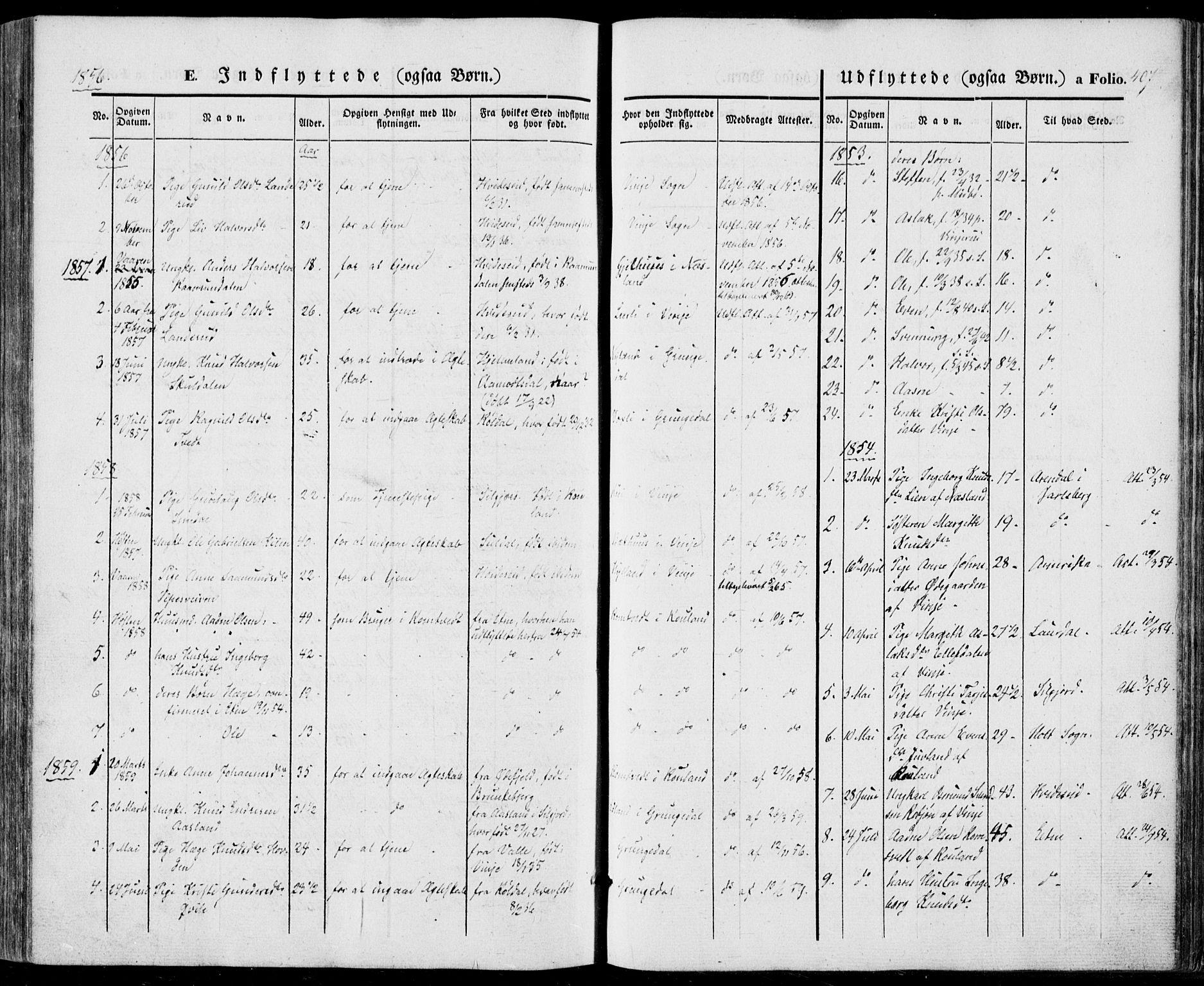 SAKO, Vinje kirkebøker, F/Fa/L0004: Ministerialbok nr. I 4, 1843-1869, s. 407