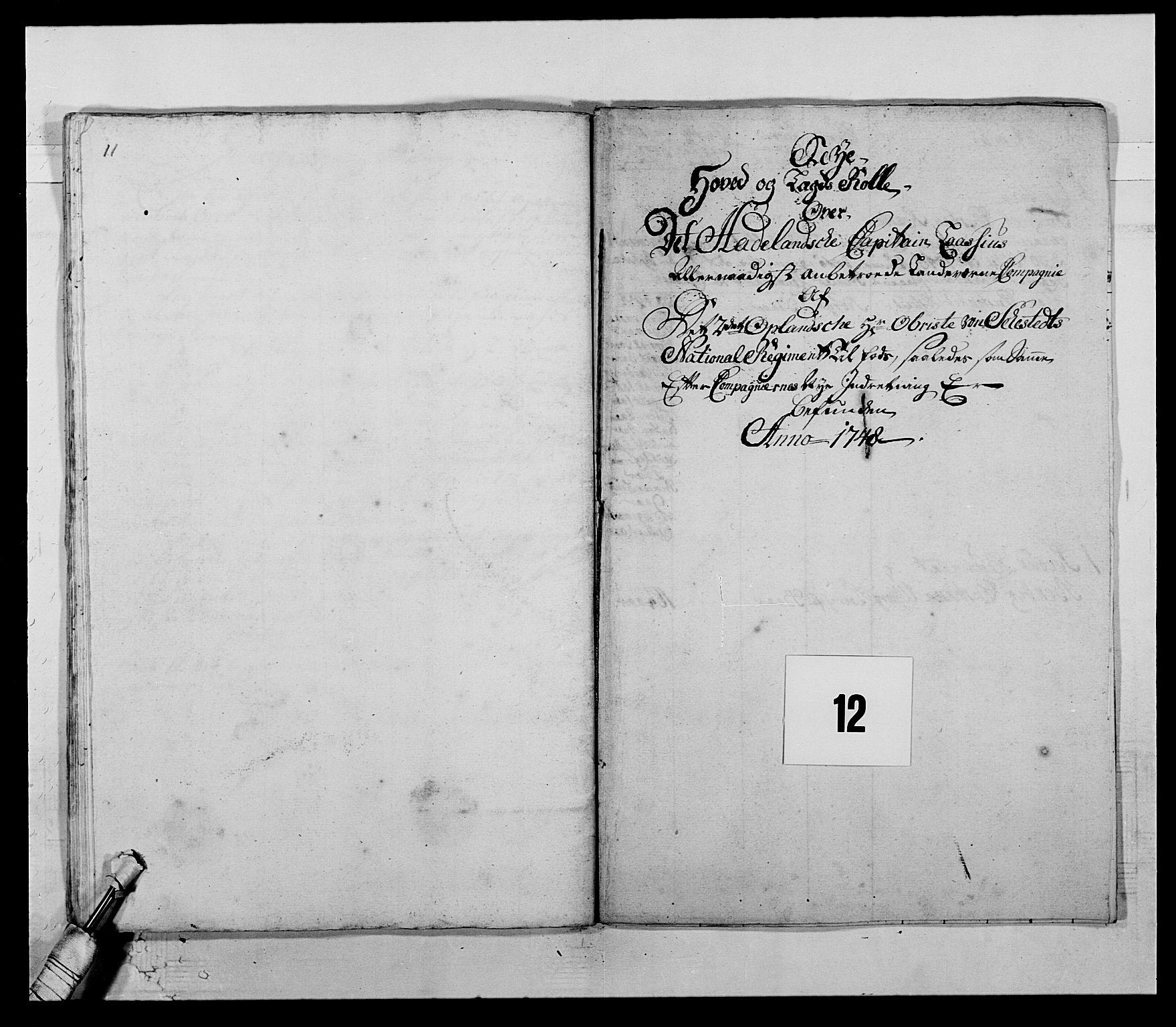 RA, Kommanderende general (KG I) med Det norske krigsdirektorium, E/Ea/L0505: 2. Opplandske regiment, 1748, s. 337
