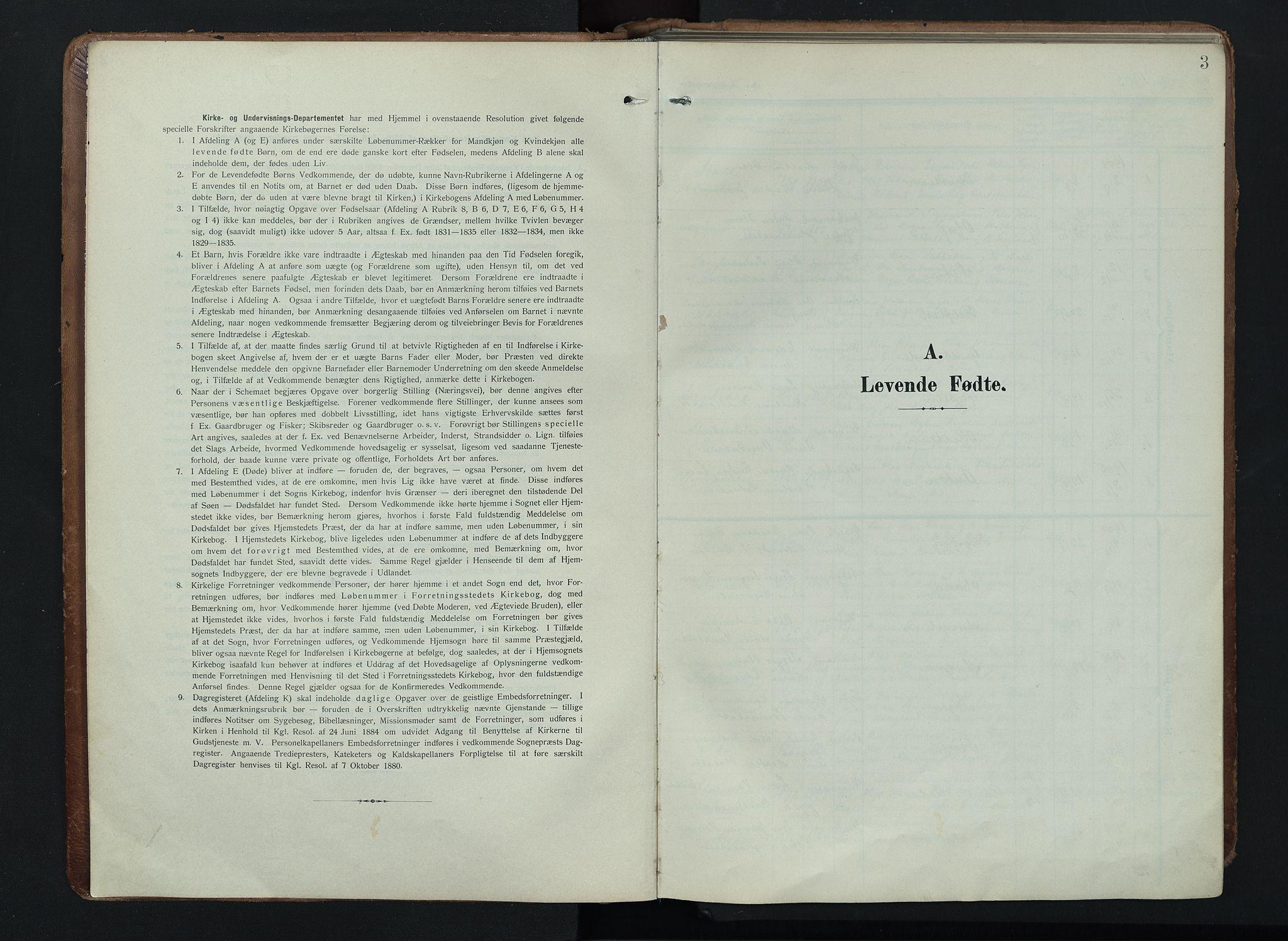 SAH, Søndre Land prestekontor, K/L0005: Ministerialbok nr. 5, 1905-1914, s. 3