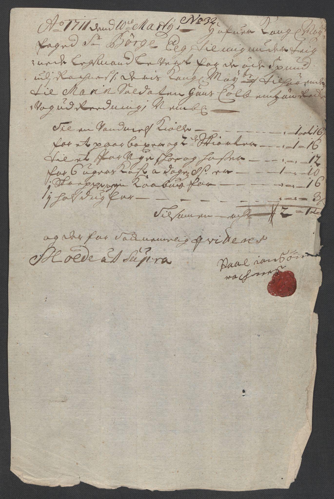 RA, Rentekammeret inntil 1814, Reviderte regnskaper, Fogderegnskap, R55/L3660: Fogderegnskap Romsdal, 1711, s. 435