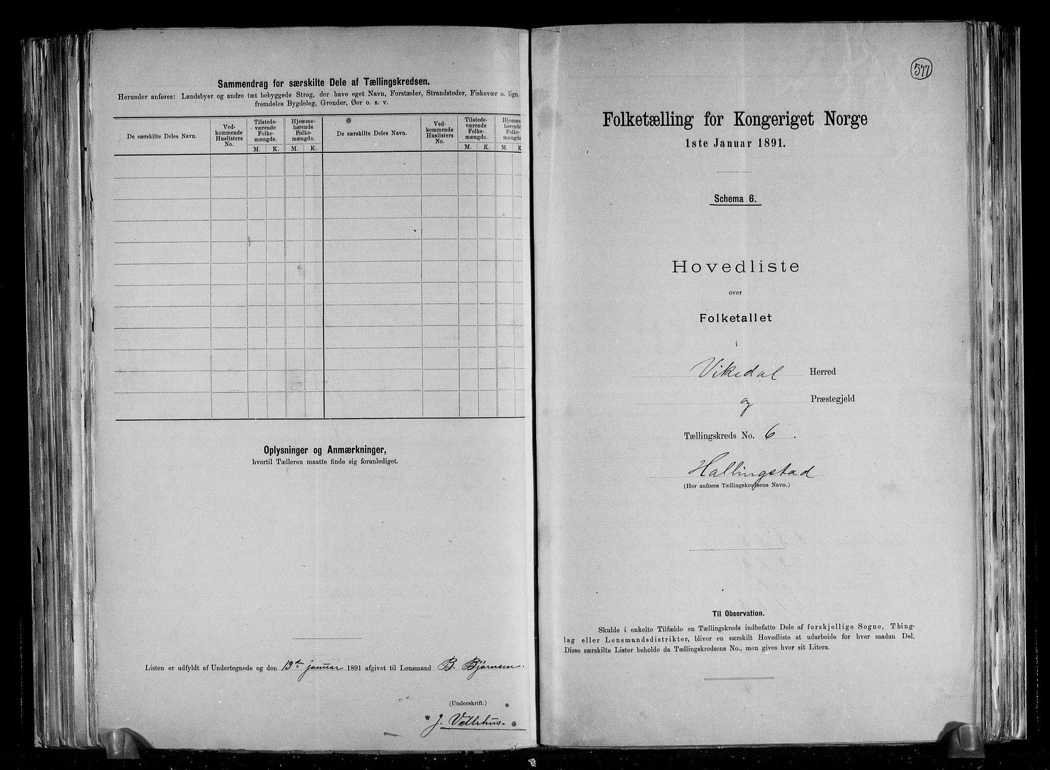 RA, Folketelling 1891 for 1157 Vikedal herred, 1891, s. 15