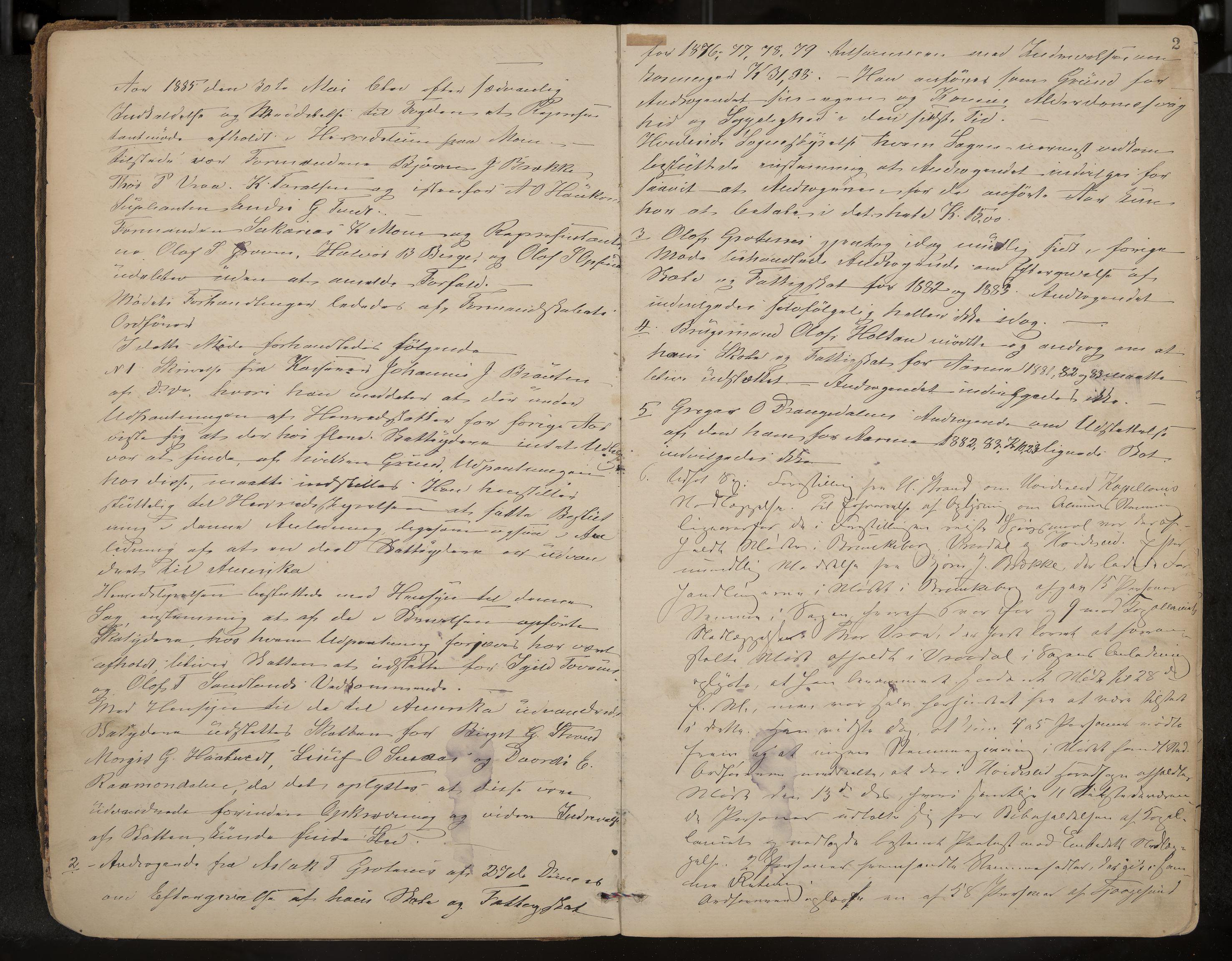 IKAK, Kviteseid formannskap og sentraladministrasjon, A/Aa/L0003: Møtebok, 1885-1896, s. 2