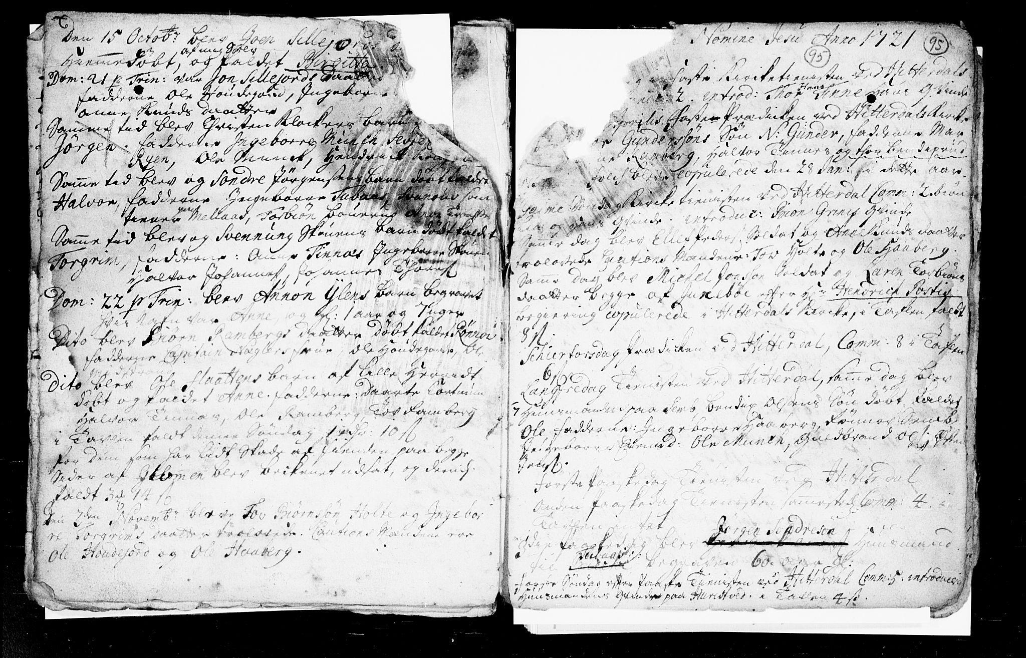 SAKO, Heddal kirkebøker, F/Fa/L0002: Ministerialbok nr. I 2, 1699-1722, s. 95