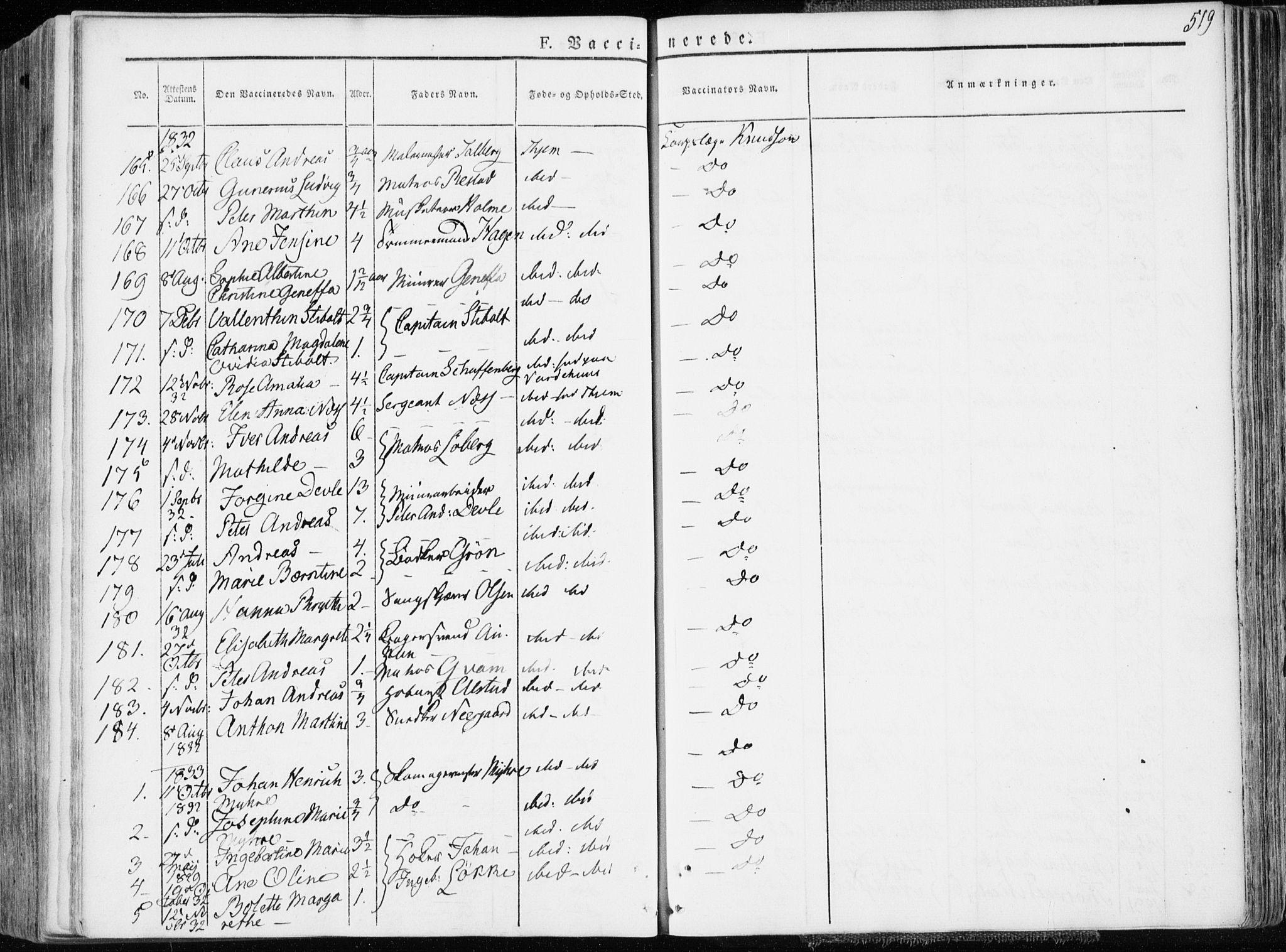 SAT, Ministerialprotokoller, klokkerbøker og fødselsregistre - Sør-Trøndelag, 601/L0047: Ministerialbok nr. 601A15, 1831-1839, s. 519