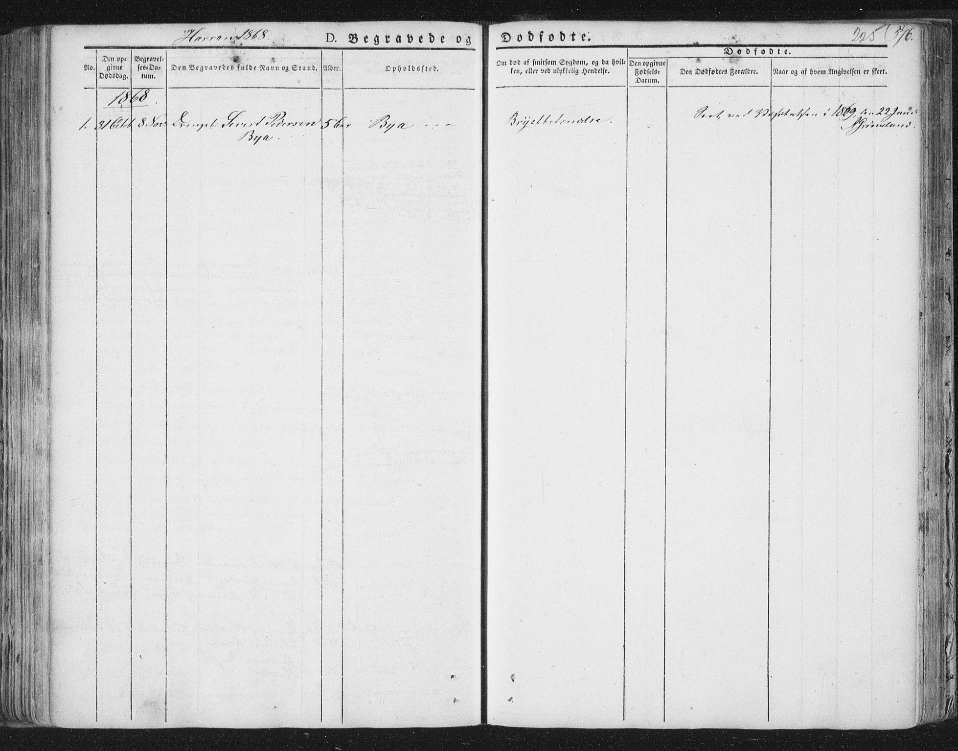 SAT, Ministerialprotokoller, klokkerbøker og fødselsregistre - Nord-Trøndelag, 758/L0513: Ministerialbok nr. 758A02 /3, 1839-1868, s. 225