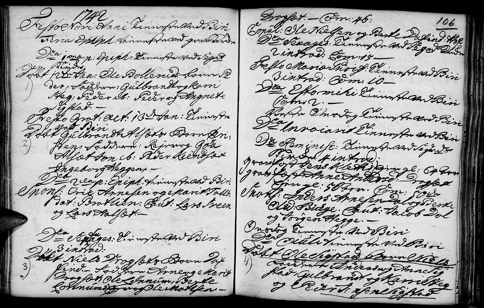 SAH, Biri prestekontor, Ministerialbok nr. 1, 1730-1754, s. 106