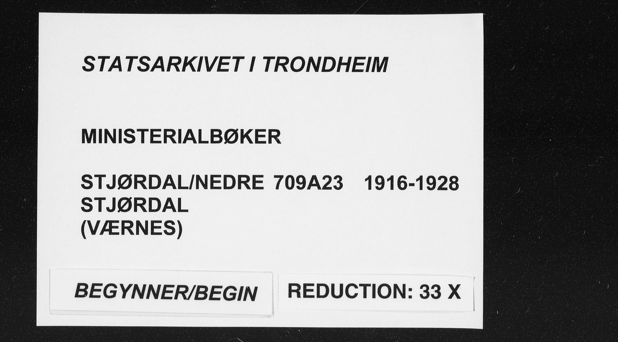 SAT, Ministerialprotokoller, klokkerbøker og fødselsregistre - Nord-Trøndelag, 709/L0083: Ministerialbok nr. 709A23, 1916-1928