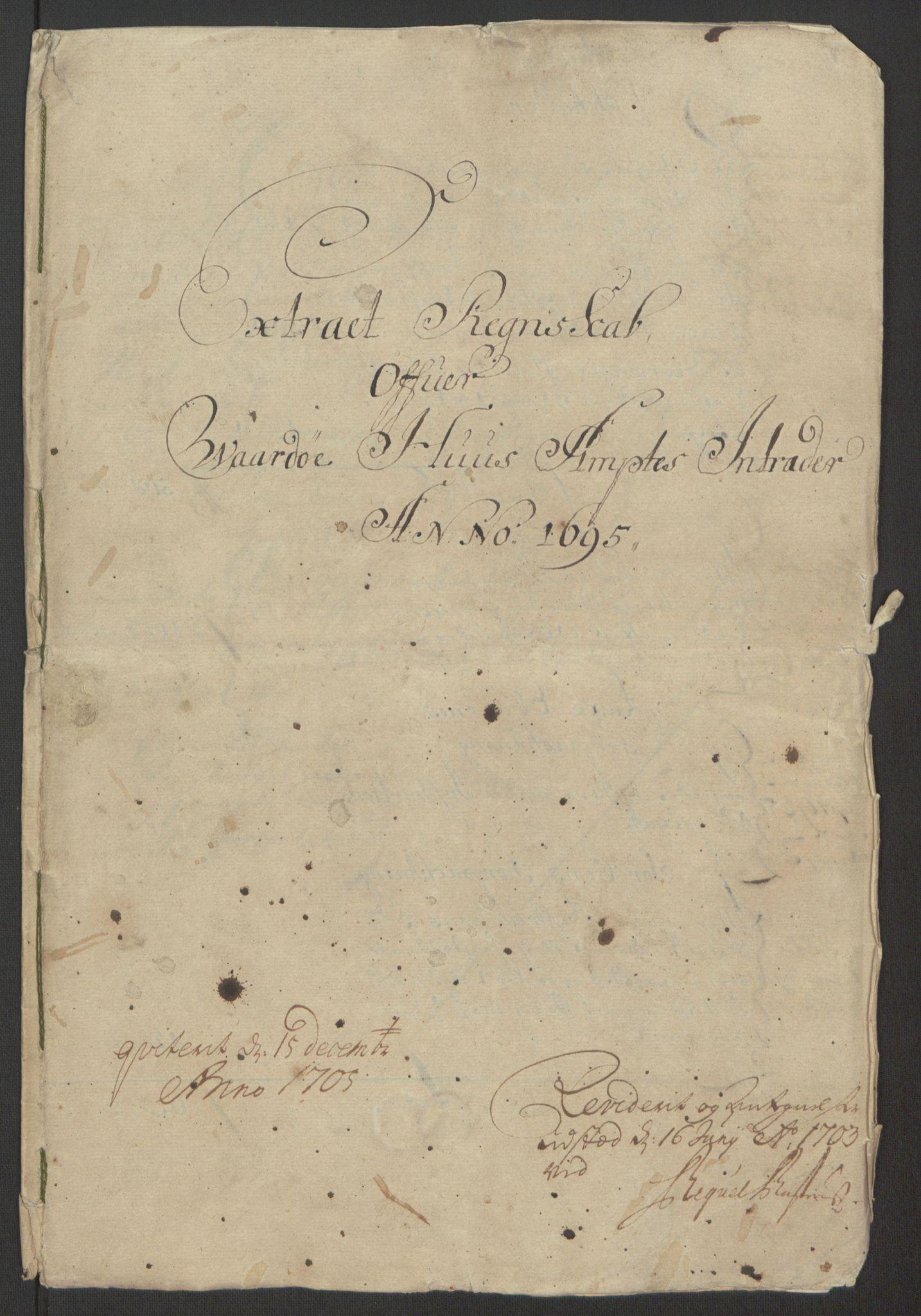 RA, Rentekammeret inntil 1814, Reviderte regnskaper, Fogderegnskap, R69/L4851: Fogderegnskap Finnmark/Vardøhus, 1691-1700, s. 229