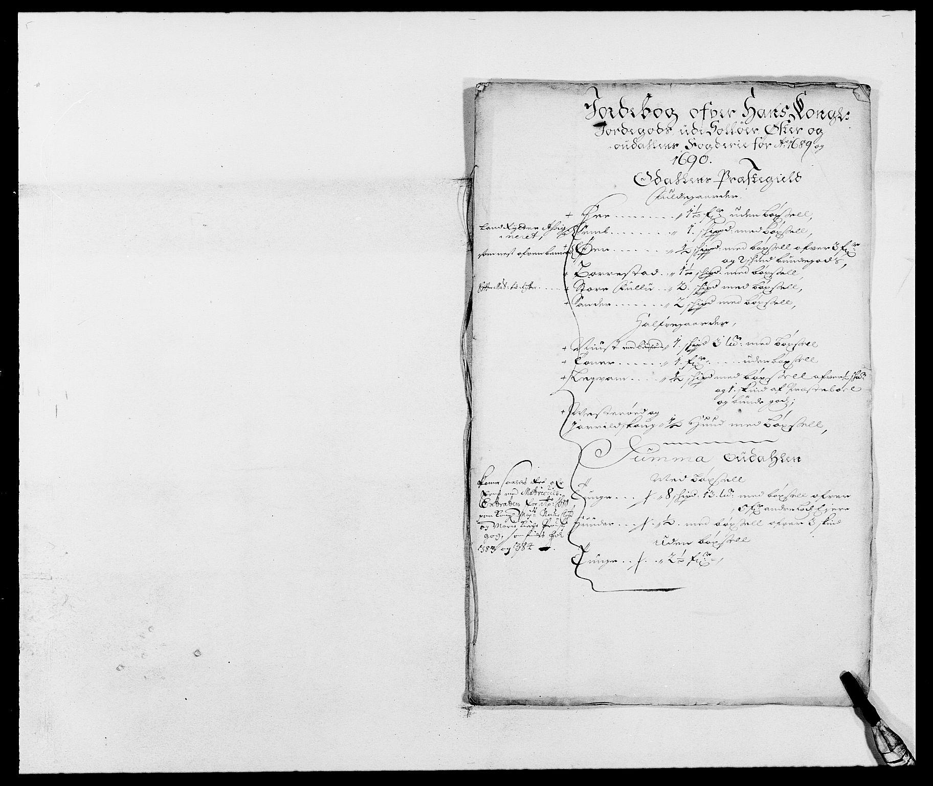 RA, Rentekammeret inntil 1814, Reviderte regnskaper, Fogderegnskap, R13/L0827: Fogderegnskap Solør, Odal og Østerdal, 1689, s. 49
