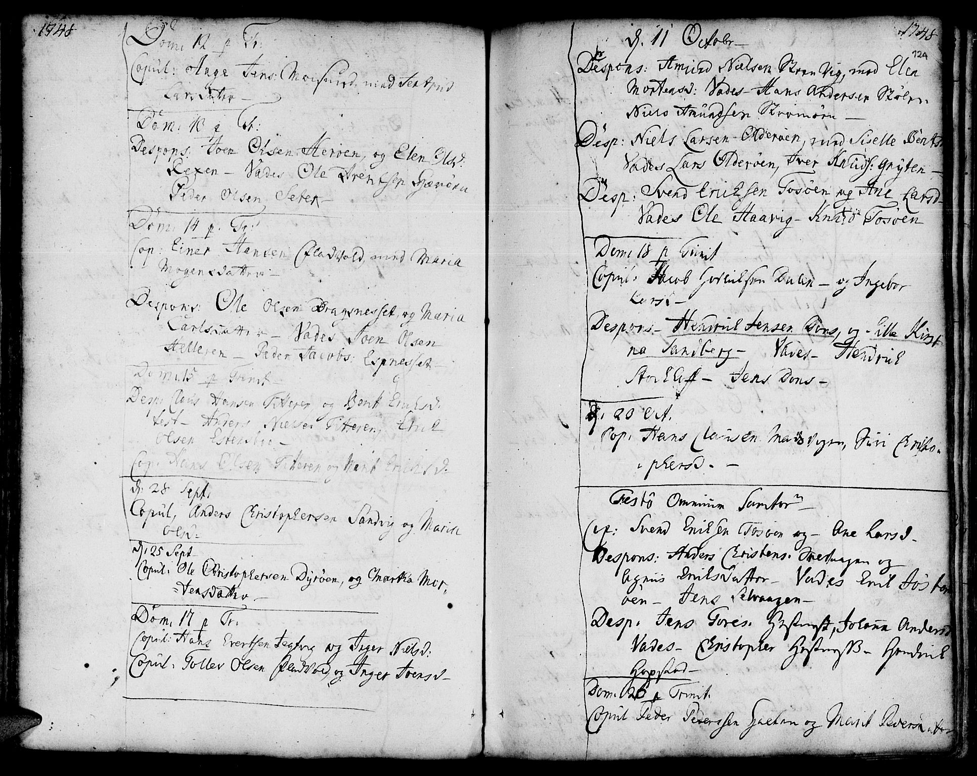 SAT, Ministerialprotokoller, klokkerbøker og fødselsregistre - Sør-Trøndelag, 634/L0525: Ministerialbok nr. 634A01, 1736-1775, s. 124