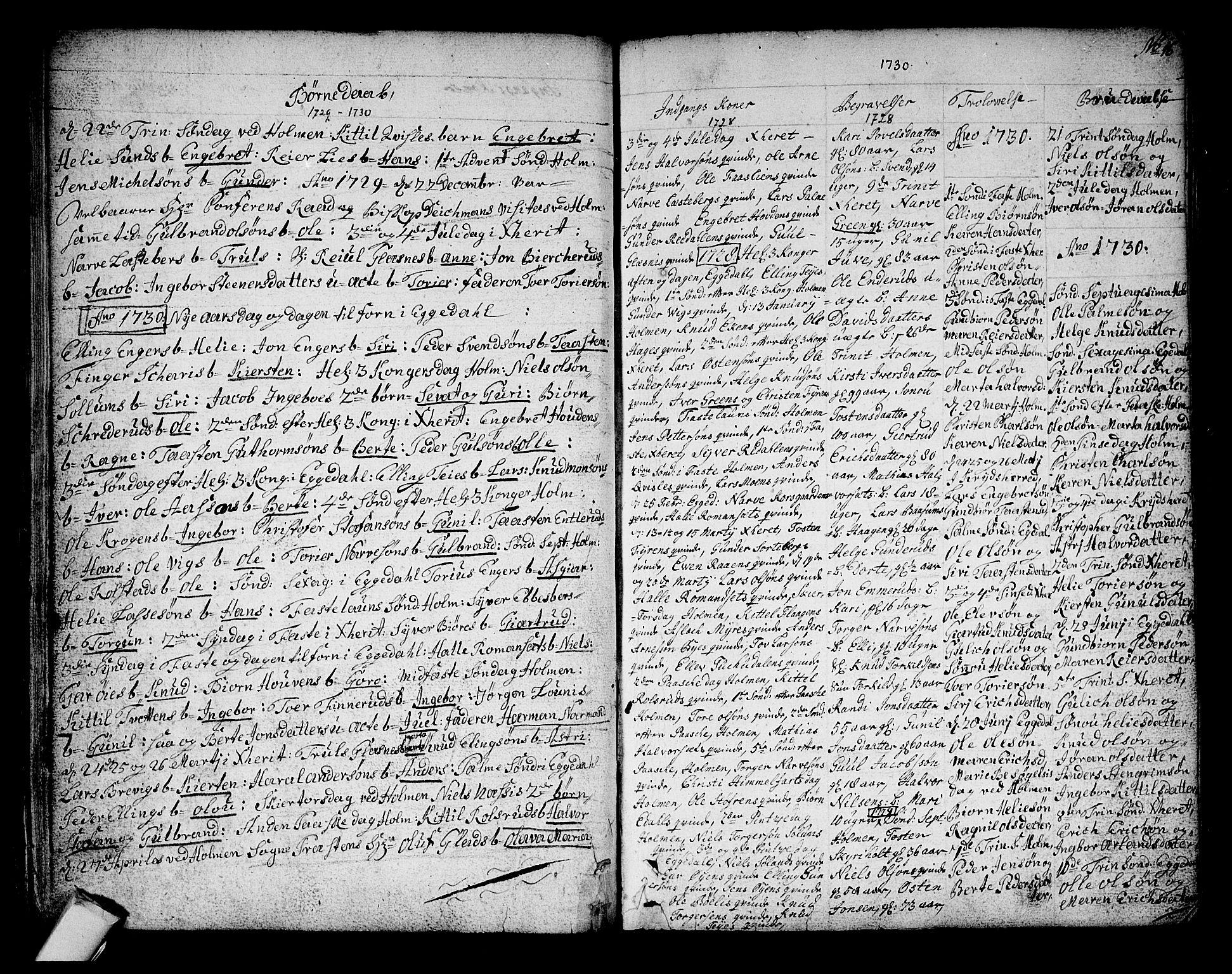 SAKO, Sigdal kirkebøker, F/Fa/L0001: Ministerialbok nr. I 1, 1722-1777, s. 16