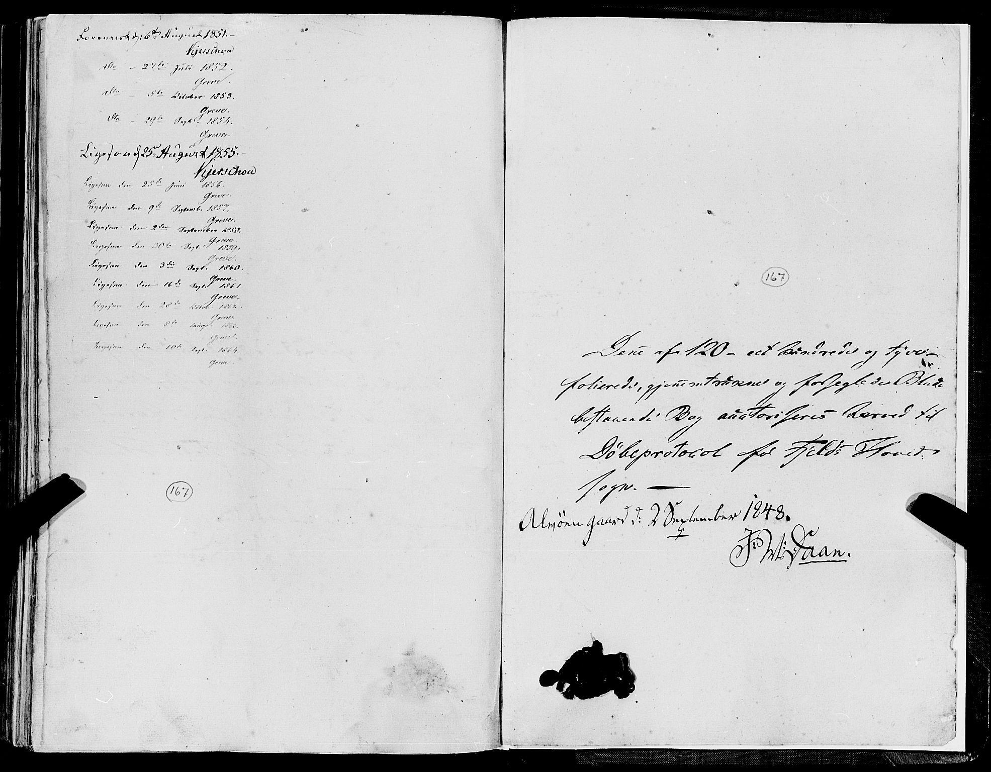SAB, Fjell Sokneprestembete, H/Haa: Ministerialbok nr. A 2, 1847-1864, s. 121