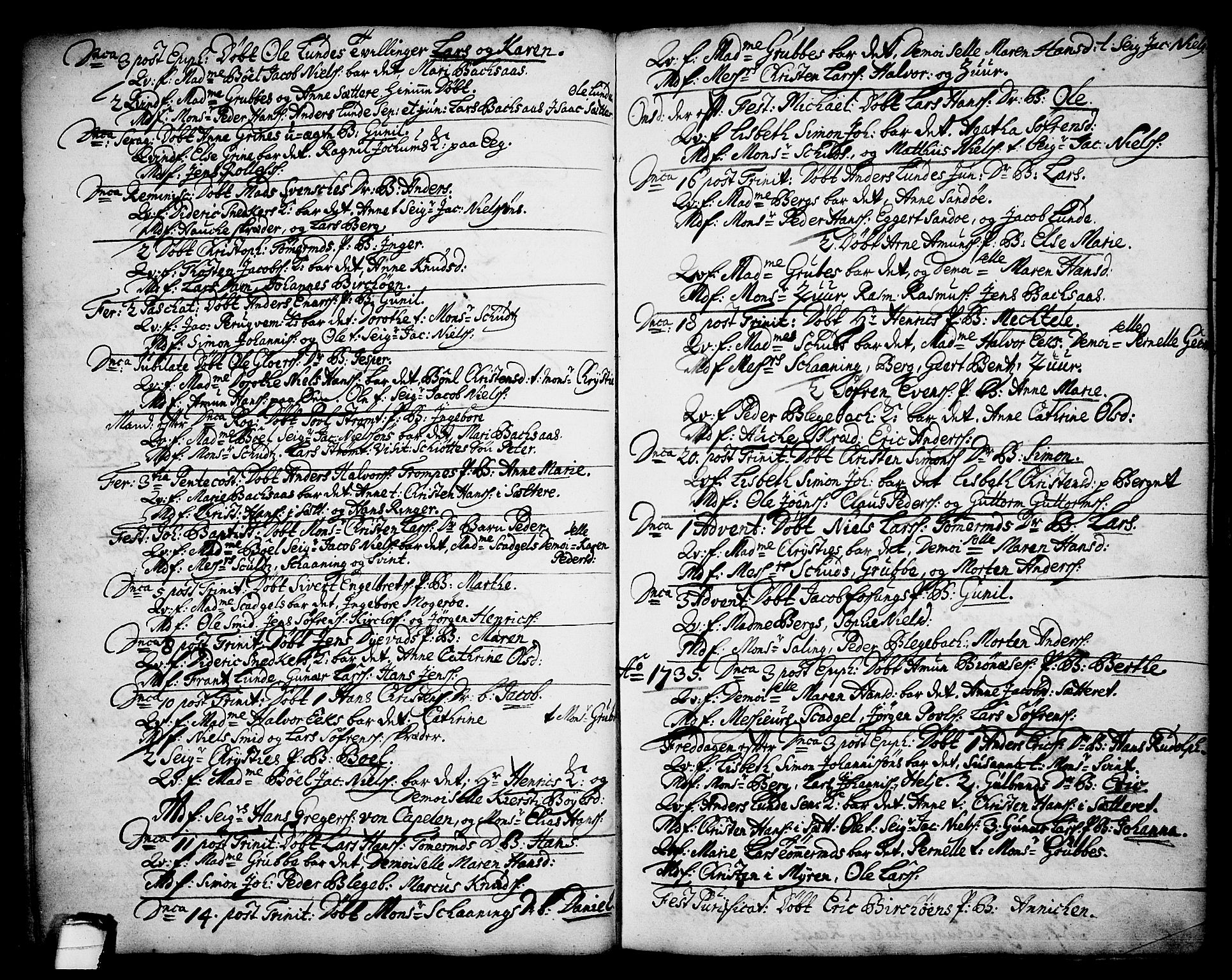 SAKO, Brevik kirkebøker, F/Fa/L0002: Ministerialbok nr. 2, 1720-1764, s. 34e