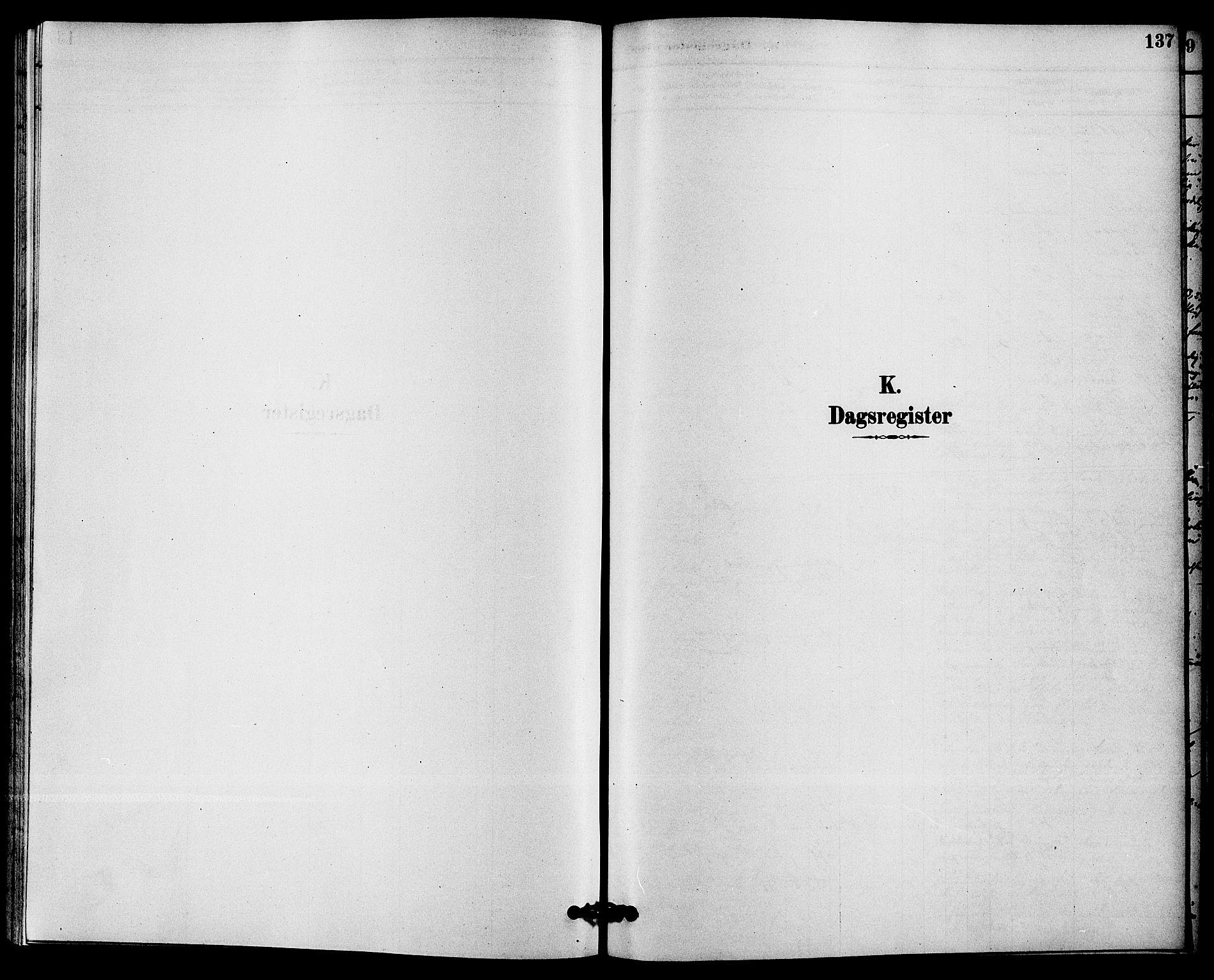 SAKO, Solum kirkebøker, F/Fc/L0001: Ministerialbok nr. III 1, 1877-1891, s. 137