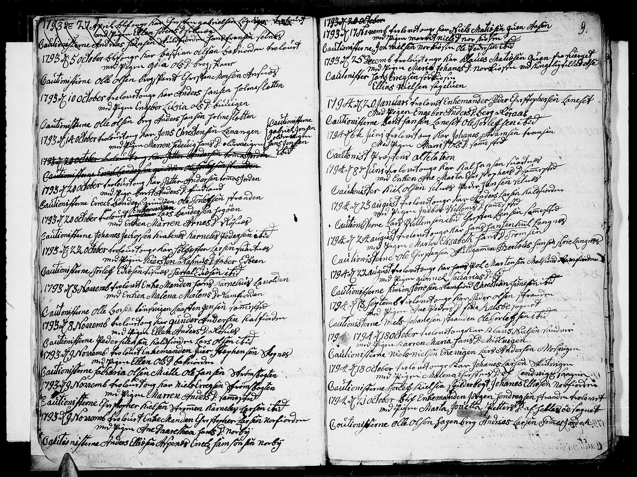 SATØ, Tromsø sokneprestkontor/stiftsprosti/domprosti, G/Ga/L0004kirke: Ministerialbok nr. 4, 1787-1795, s. 9