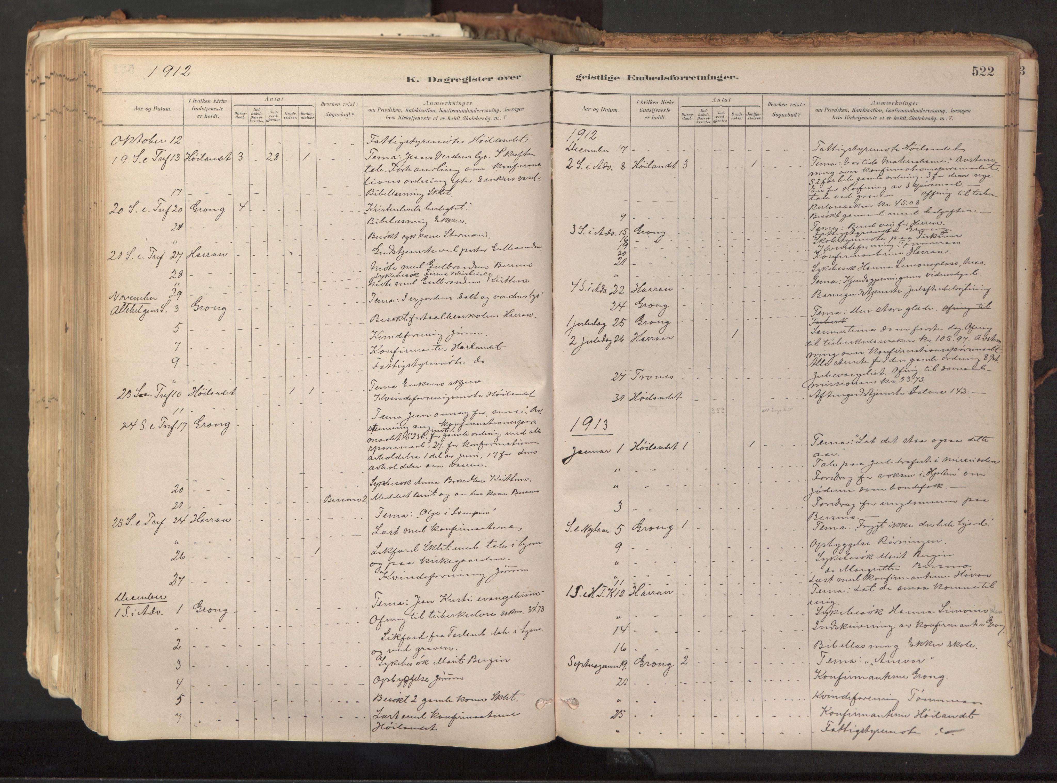SAT, Ministerialprotokoller, klokkerbøker og fødselsregistre - Nord-Trøndelag, 758/L0519: Ministerialbok nr. 758A04, 1880-1926, s. 522