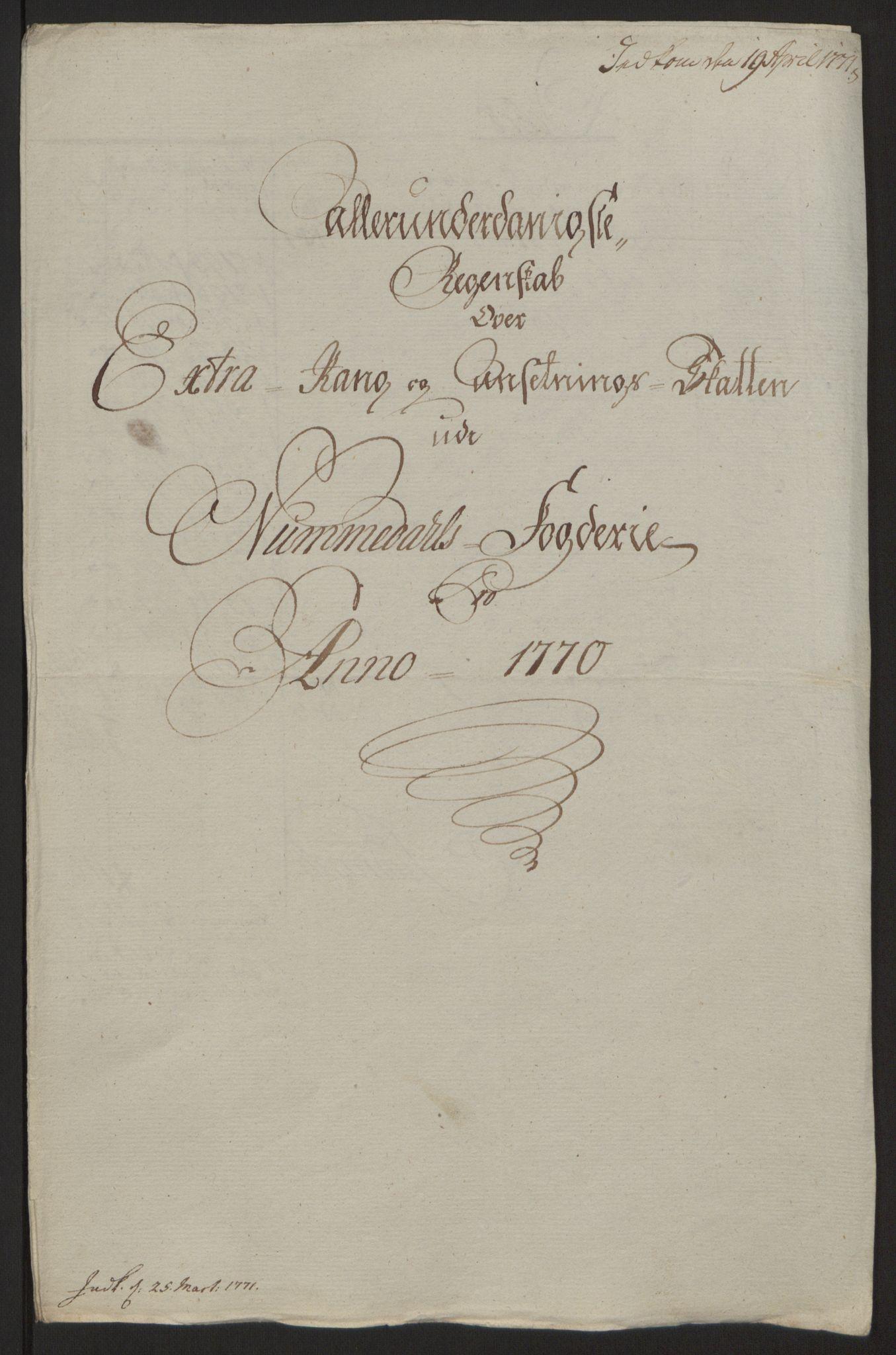 RA, Rentekammeret inntil 1814, Reviderte regnskaper, Fogderegnskap, R64/L4502: Ekstraskatten Namdal, 1762-1772, s. 350