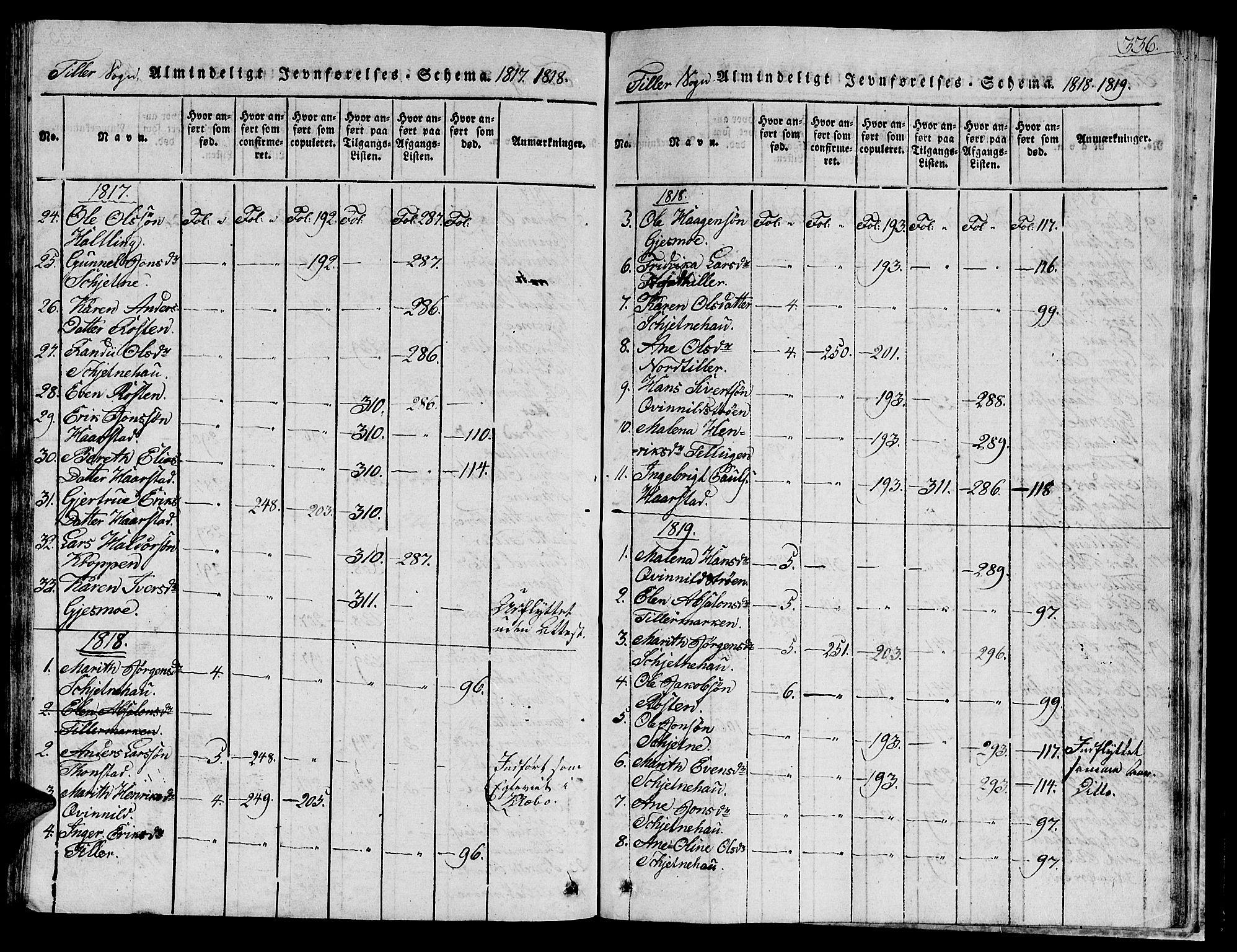 SAT, Ministerialprotokoller, klokkerbøker og fødselsregistre - Sør-Trøndelag, 621/L0458: Klokkerbok nr. 621C01, 1816-1865, s. 336
