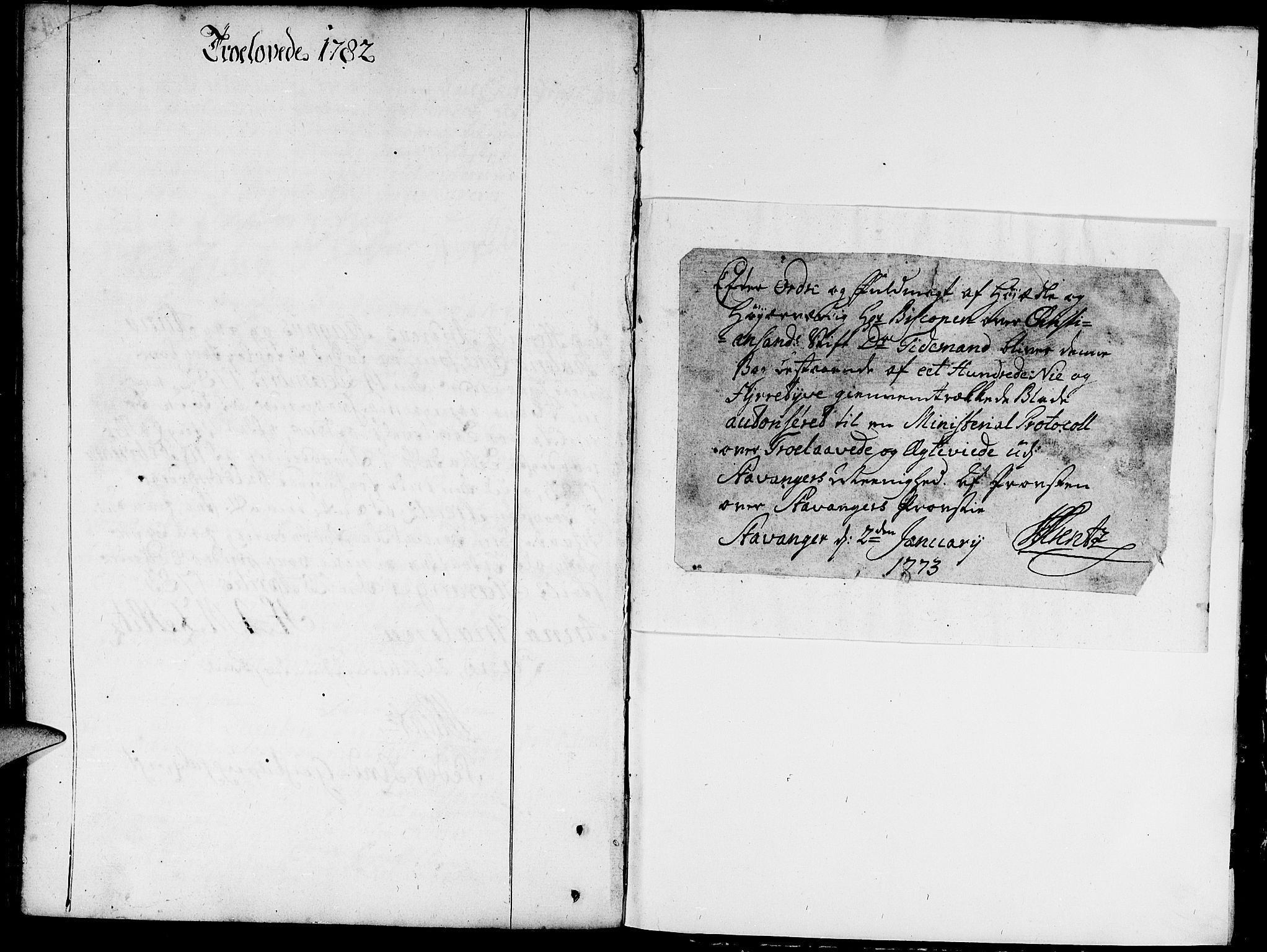 SAST, Domkirken sokneprestkontor, 30/30BA/L0004: Ministerialbok nr. A 4, 1744-1782