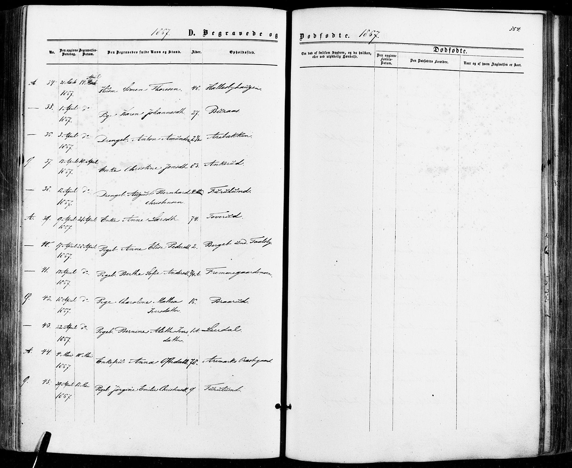 SAO, Aremark prestekontor Kirkebøker, F/Fc/L0004: Ministerialbok nr. III 4, 1866-1877, s. 563-564