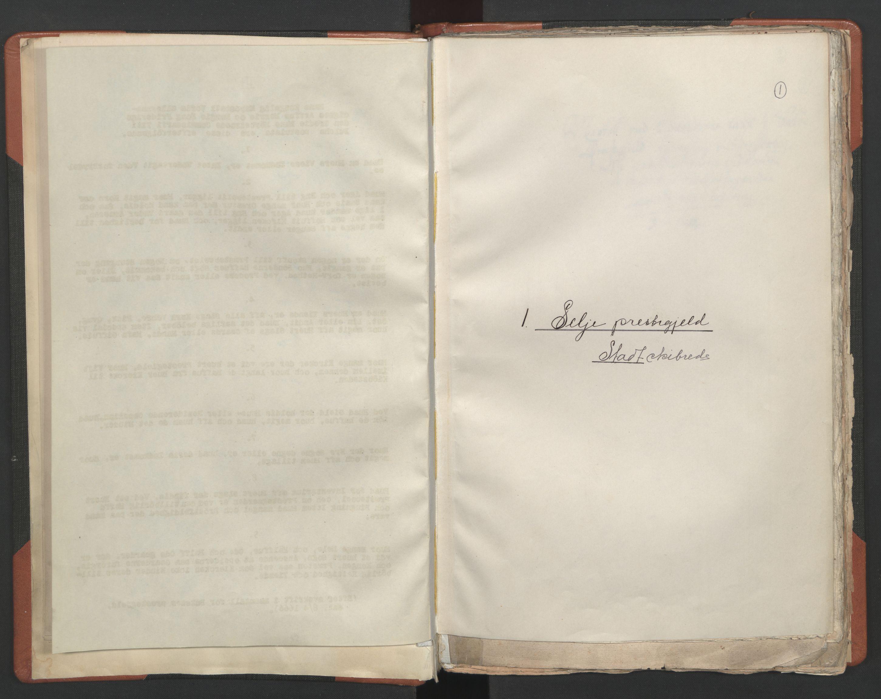 RA, Sogneprestenes manntall 1664-1666, nr. 25: Nordfjord prosti, 1664-1666, s. 1
