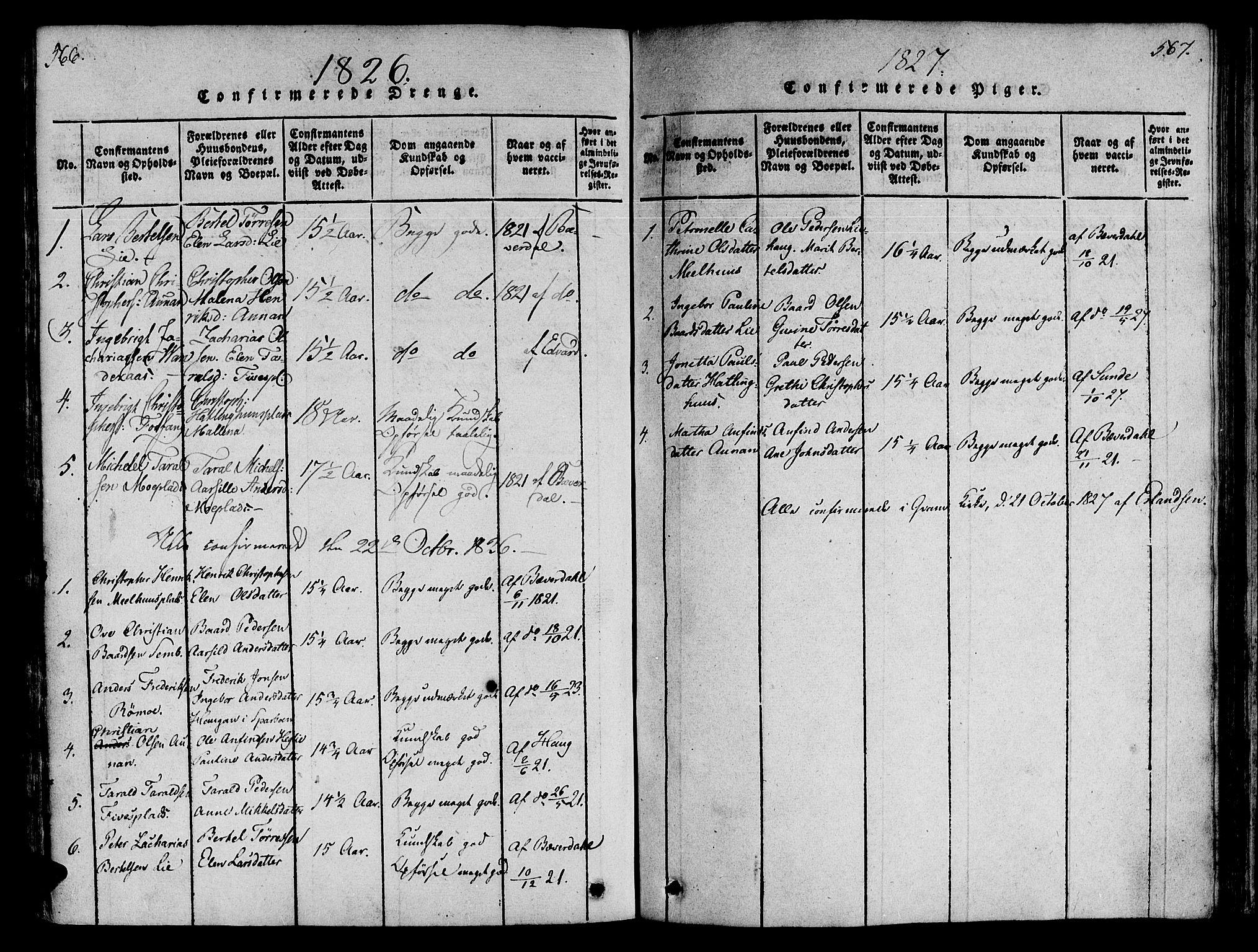 SAT, Ministerialprotokoller, klokkerbøker og fødselsregistre - Nord-Trøndelag, 746/L0441: Ministerialbok nr. 746A03 /4, 1816-1827, s. 566-567