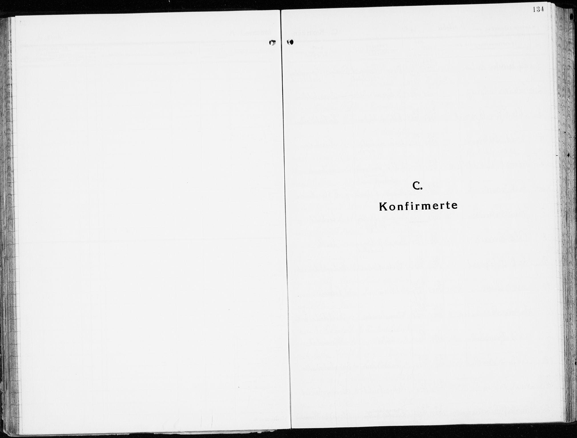 SAH, Stange prestekontor, K/L0027: Ministerialbok nr. 27, 1937-1947, s. 134