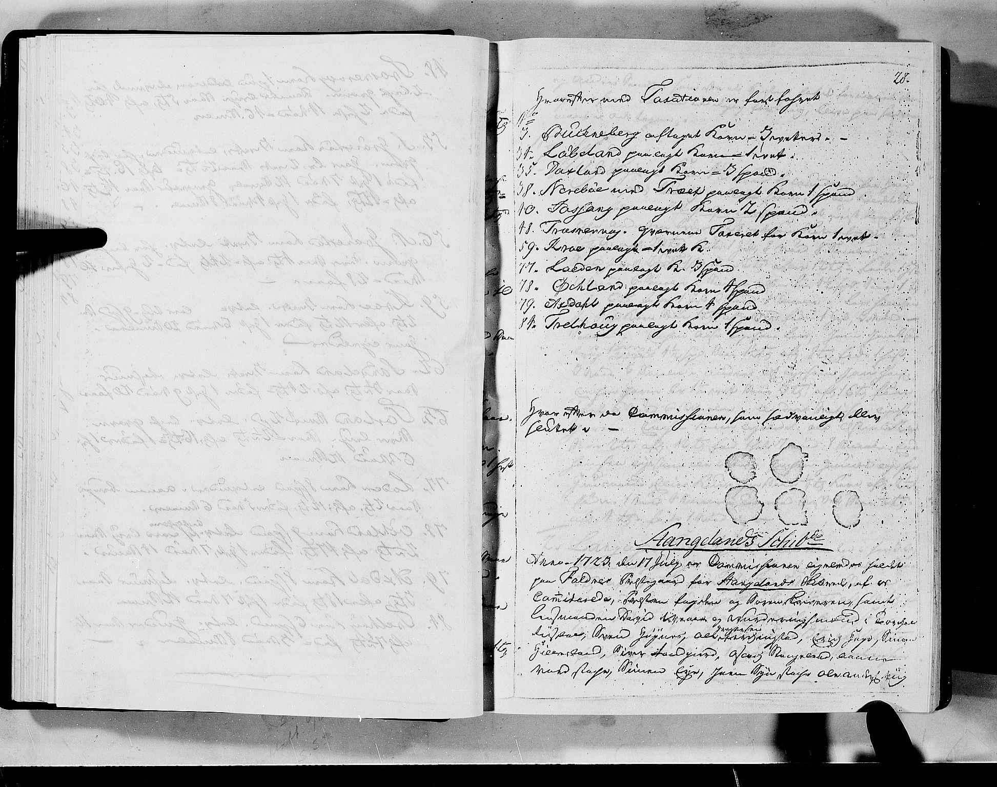 RA, Rentekammeret inntil 1814, Realistisk ordnet avdeling, N/Nb/Nbf/L0133a: Ryfylke eksaminasjonsprotokoll, 1723, s. 28a