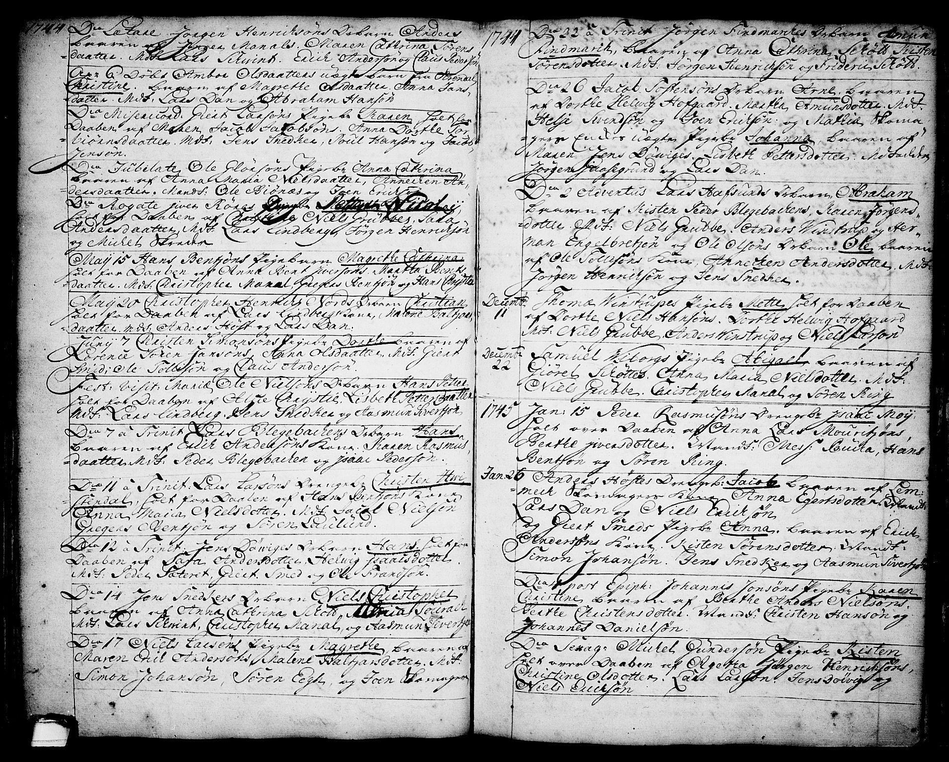 SAKO, Brevik kirkebøker, F/Fa/L0002: Ministerialbok nr. 2, 1720-1764, s. 34o