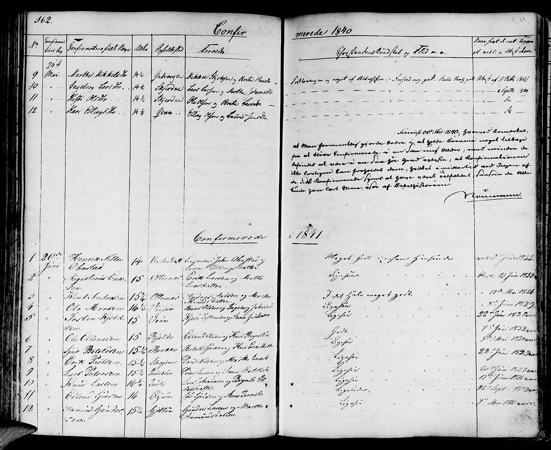 SAB, Aurland Sokneprestembete*, Ministerialbok nr. A 6, 1821-1859, s. 162