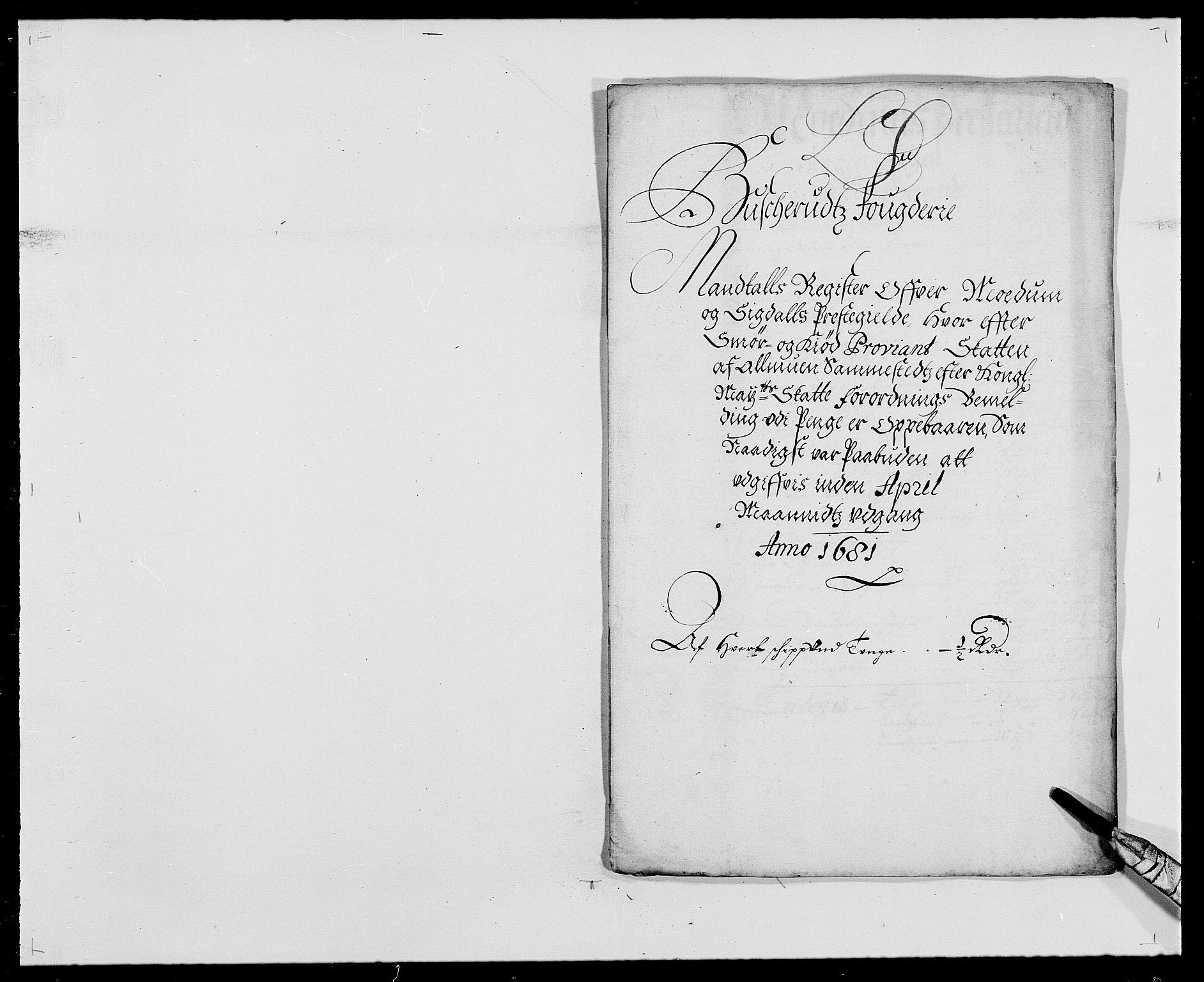 RA, Rentekammeret inntil 1814, Reviderte regnskaper, Fogderegnskap, R25/L1675: Fogderegnskap Buskerud, 1678-1681, s. 293