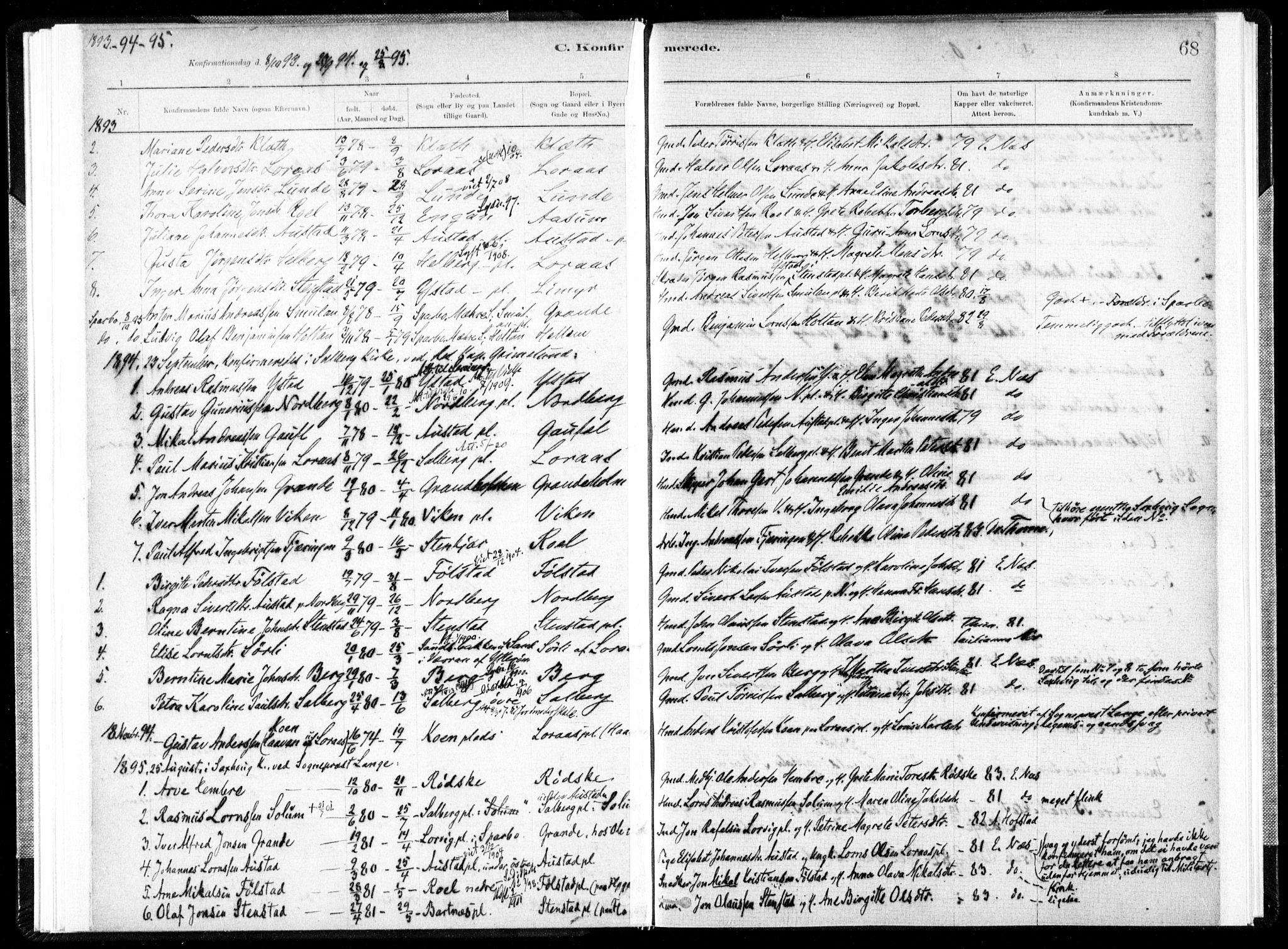 SAT, Ministerialprotokoller, klokkerbøker og fødselsregistre - Nord-Trøndelag, 731/L0309: Ministerialbok nr. 731A01, 1879-1918, s. 68