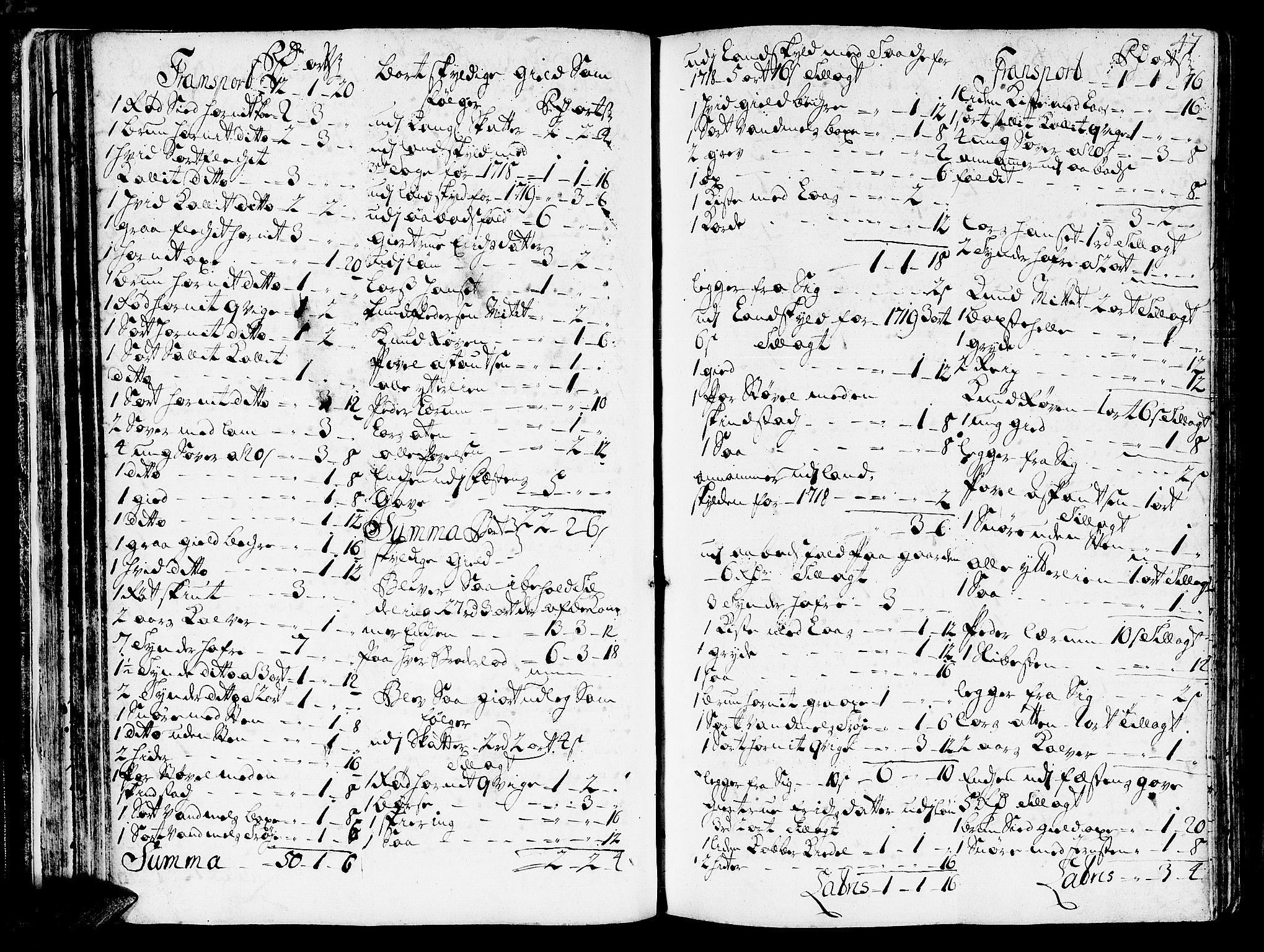 SAT, Romsdal sorenskriveri, 3/3A/L0006: Skifteprotokoll, 1718-1730, s. 46b-47a