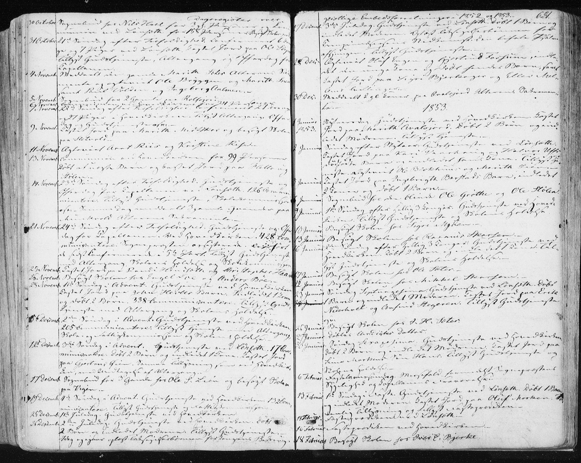 SAT, Ministerialprotokoller, klokkerbøker og fødselsregistre - Sør-Trøndelag, 678/L0899: Ministerialbok nr. 678A08, 1848-1872, s. 621