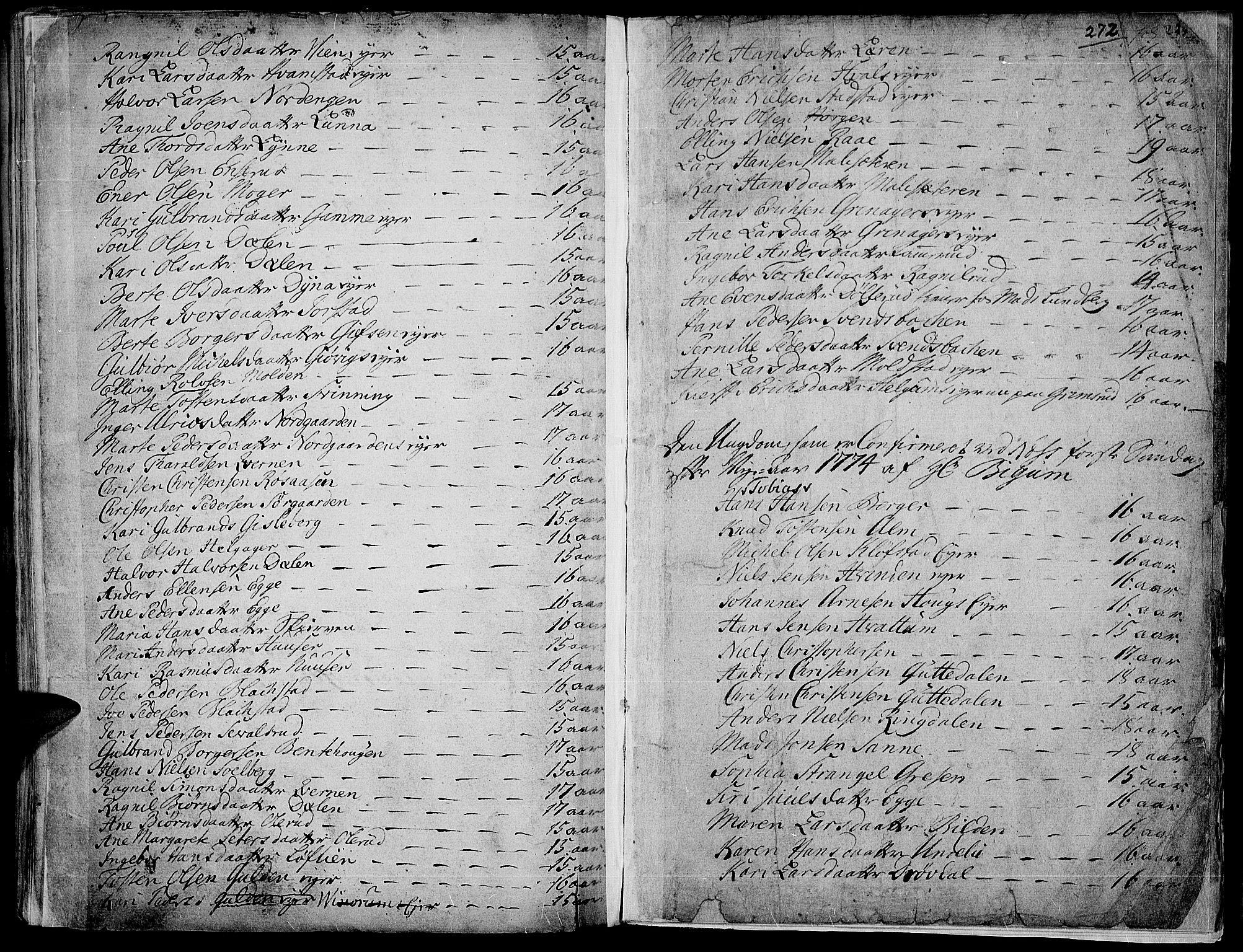 SAH, Gran prestekontor, Ministerialbok nr. 4, 1759-1775, s. 272
