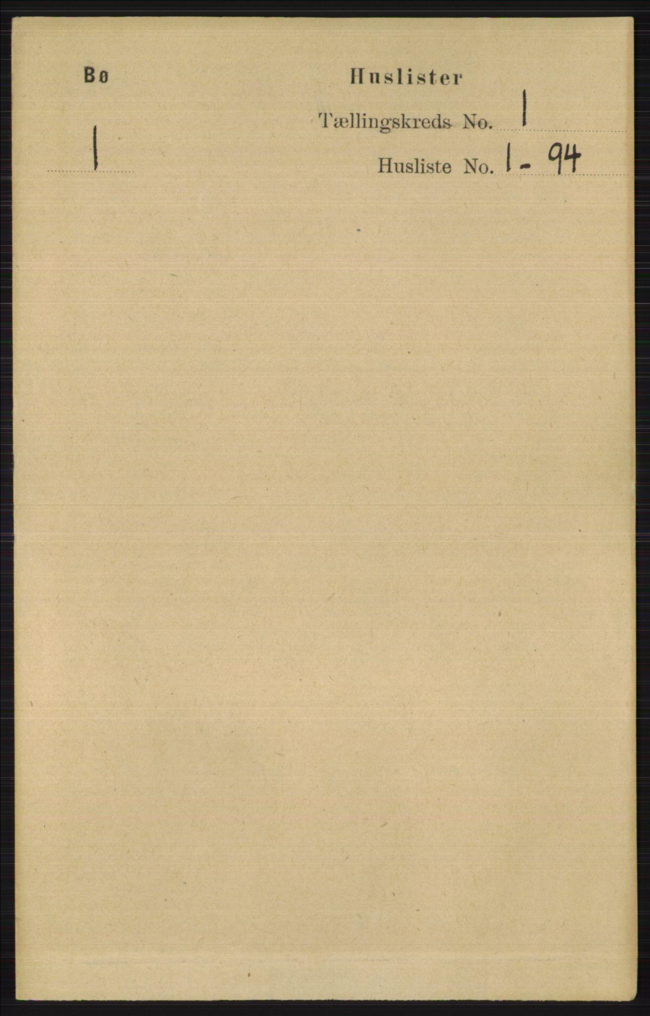 RA, Folketelling 1891 for 0821 Bø herred, 1891, s. 25