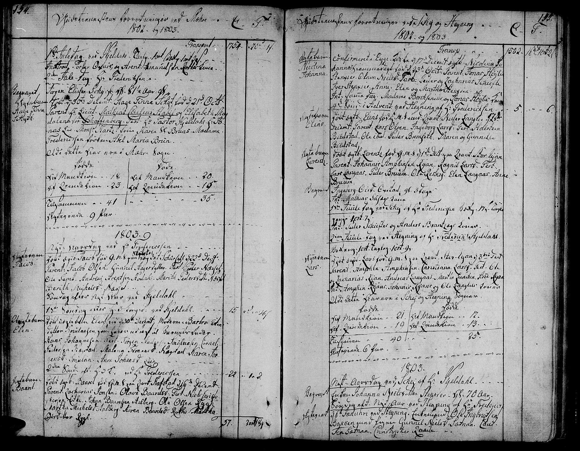 SAT, Ministerialprotokoller, klokkerbøker og fødselsregistre - Nord-Trøndelag, 735/L0332: Ministerialbok nr. 735A03, 1795-1816, s. 154-155