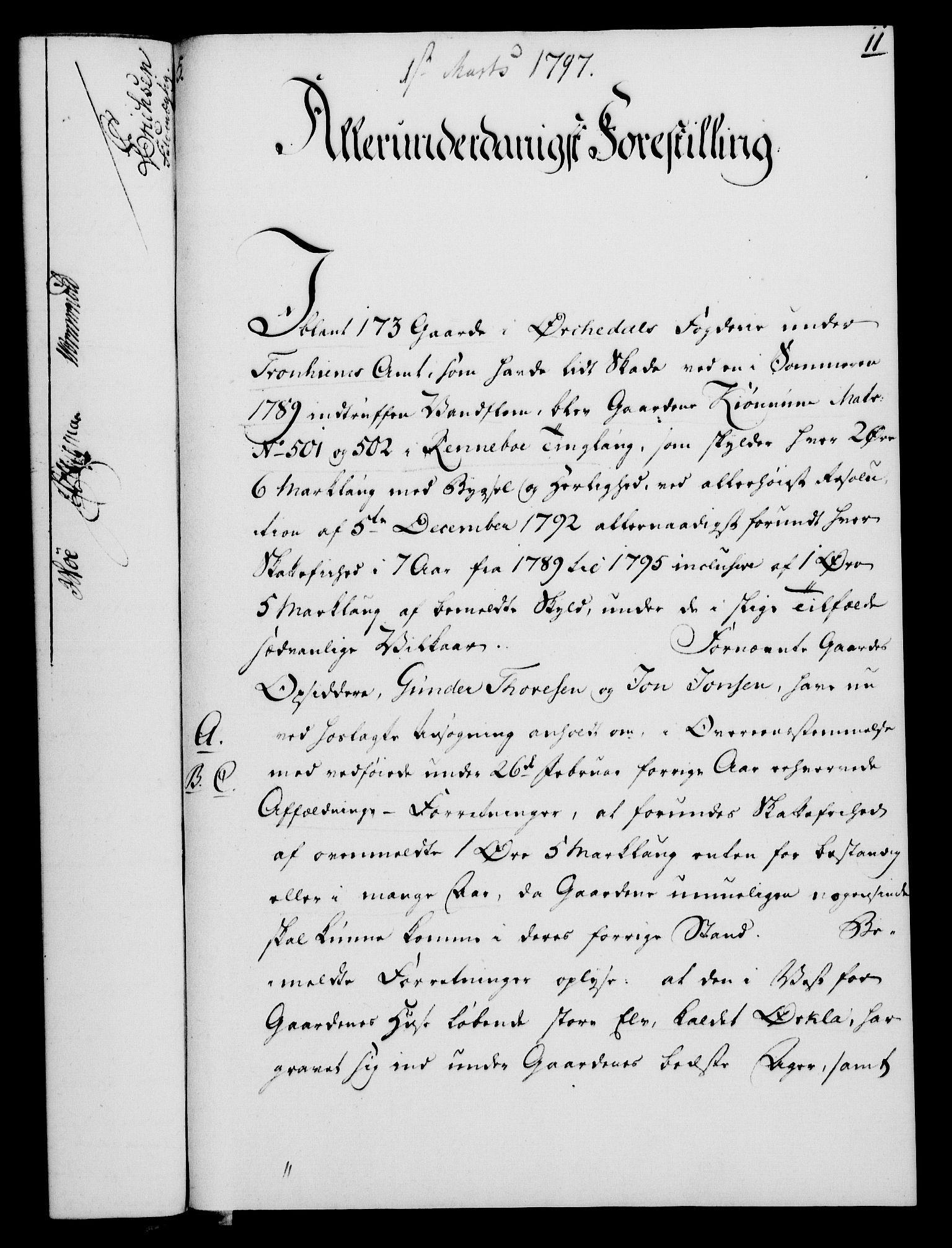 RA, Rentekammeret, Kammerkanselliet, G/Gf/Gfa/L0079: Norsk relasjons- og resolusjonsprotokoll (merket RK 52.79), 1797, s. 91