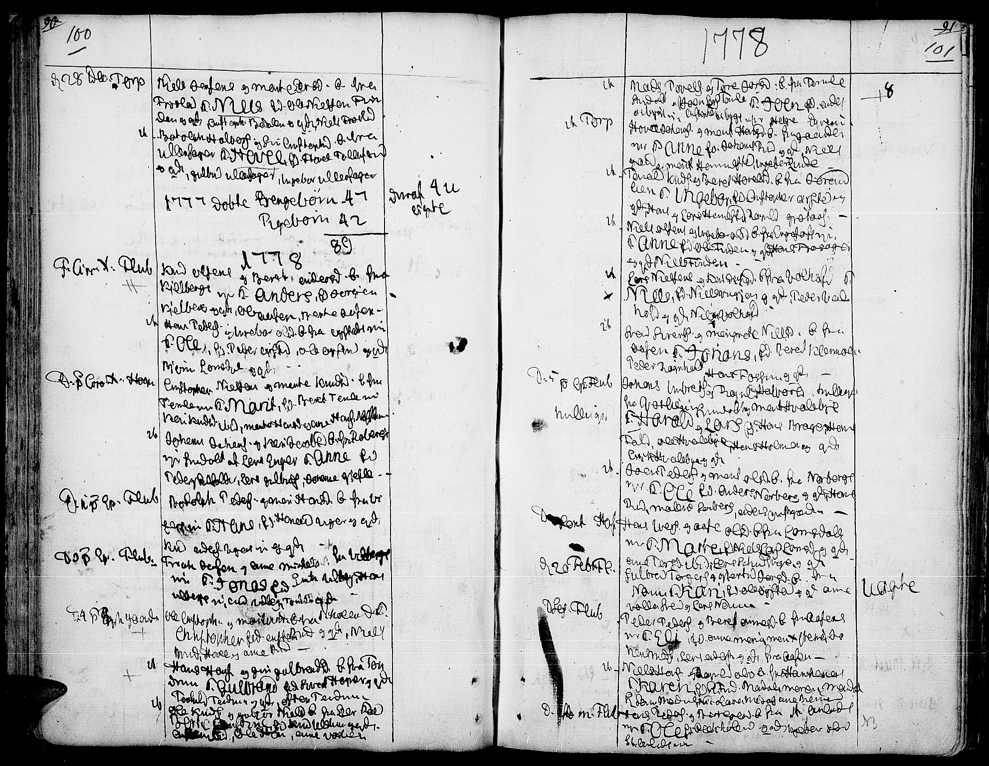 SAH, Land prestekontor, Ministerialbok nr. 5, 1765-1784, s. 100-101