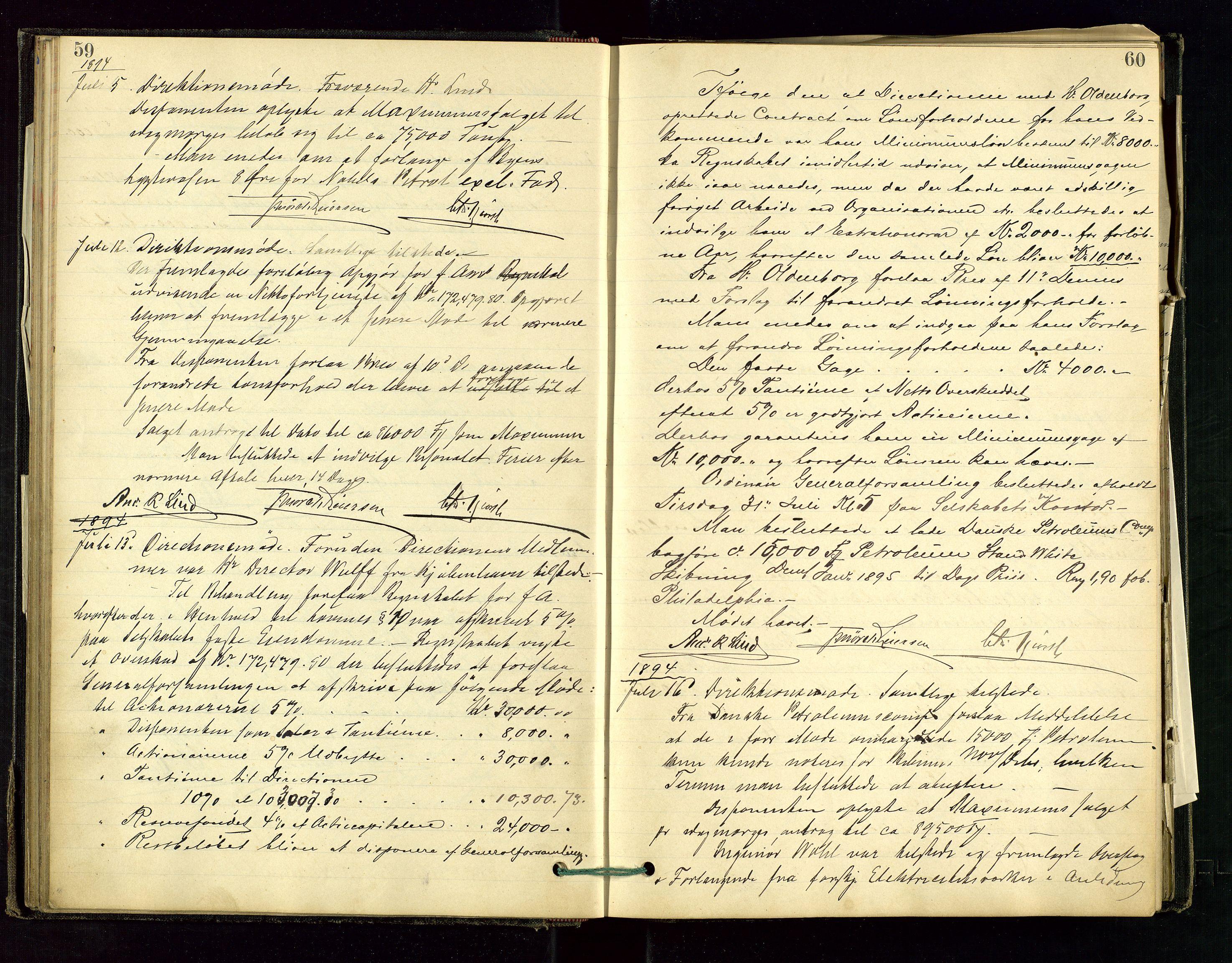 SAST, PA 1534 - Østlandske Petroleumscompagni A/S, A/Aa/L0001: Generalforsamlinger og direksjonsprotokoller., 1892-1905, s. 59-60