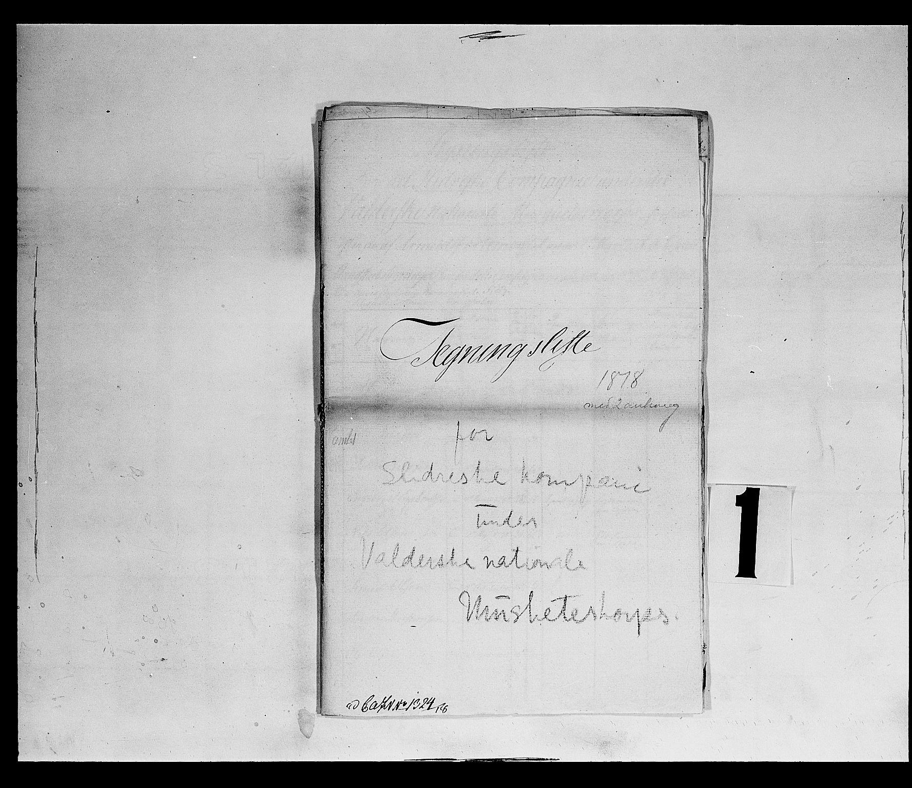 SAH, Fylkesmannen i Oppland, K/Kb/L1160: Valderske nasjonale musketérkorps - Slidreske kompani, 1818-1860, s. 2