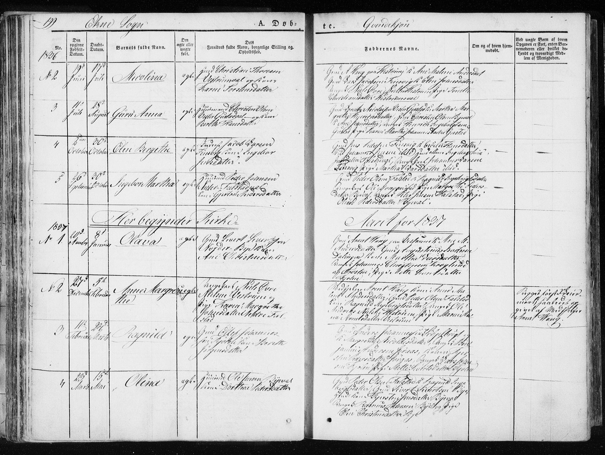 SAT, Ministerialprotokoller, klokkerbøker og fødselsregistre - Nord-Trøndelag, 717/L0154: Ministerialbok nr. 717A06 /2, 1836-1849, s. 199