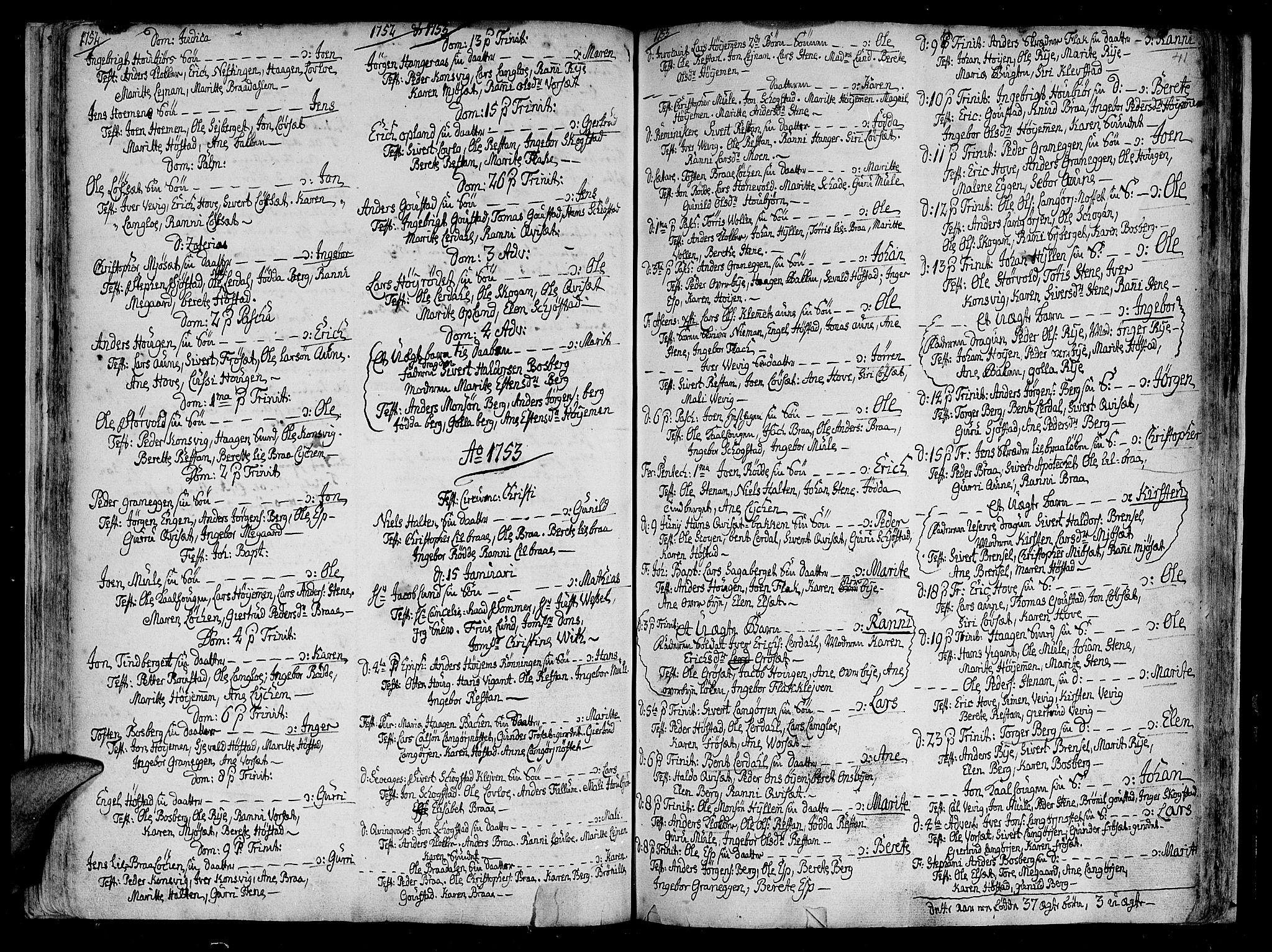 SAT, Ministerialprotokoller, klokkerbøker og fødselsregistre - Sør-Trøndelag, 612/L0368: Ministerialbok nr. 612A02, 1702-1753, s. 41