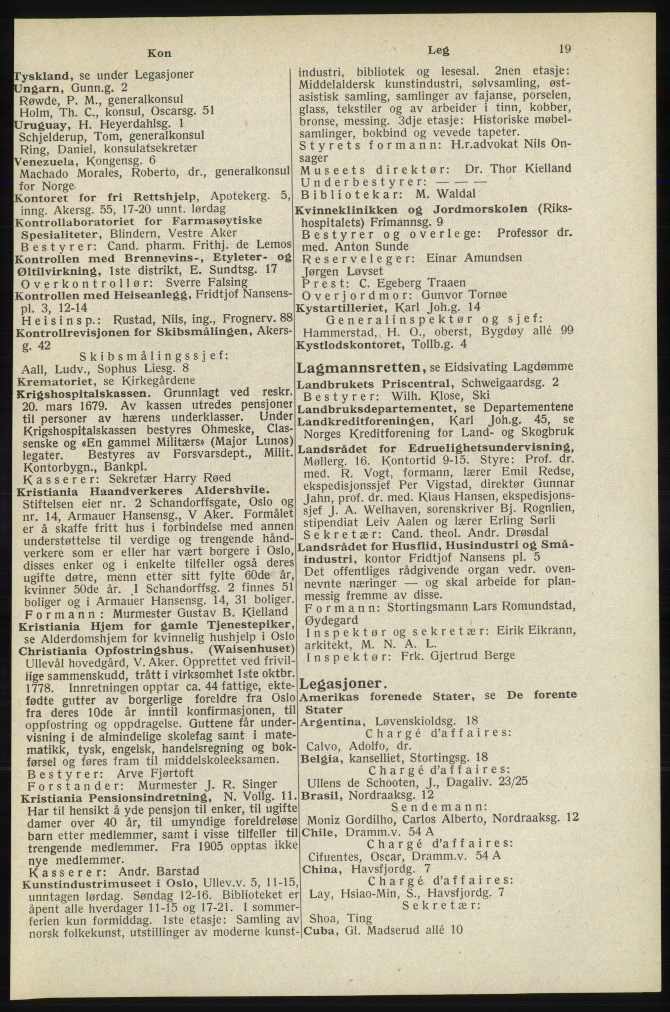 RA, Oslo adressebok (publikasjon)*, 1940, s. 19